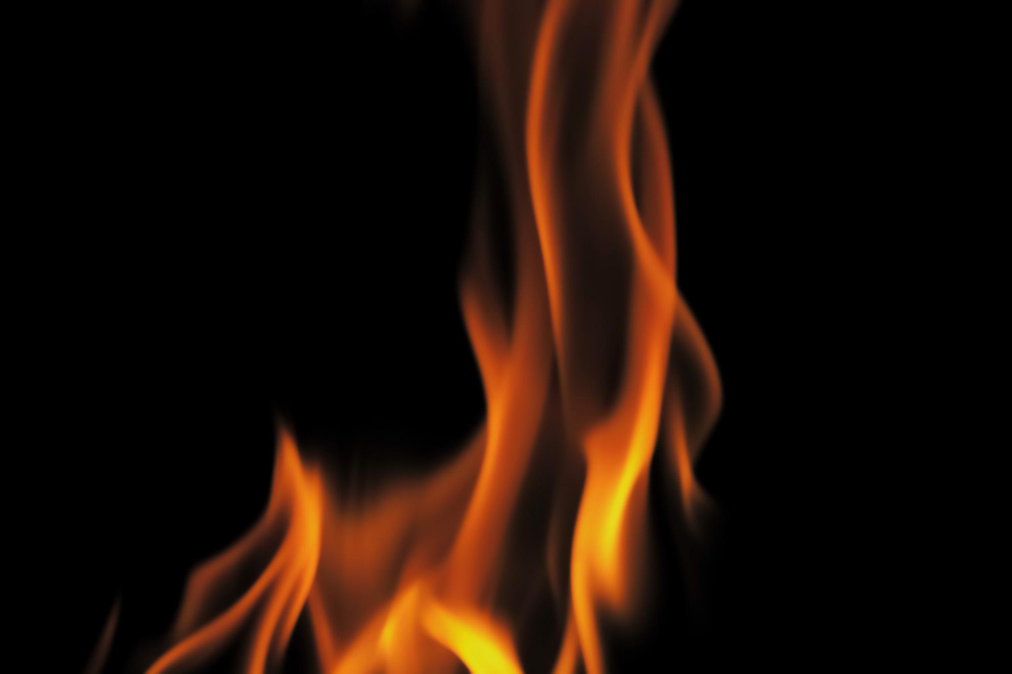 「駆け上る炎火の背景」