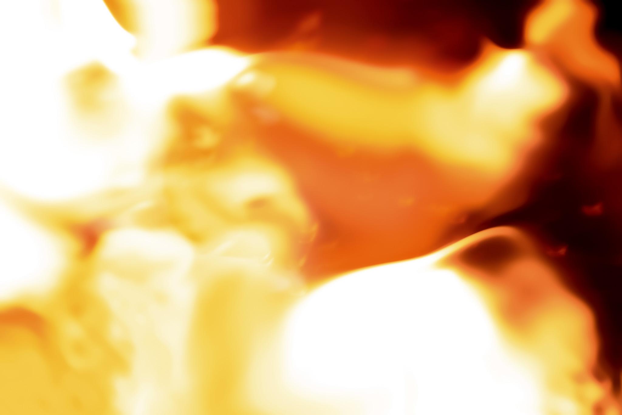 「灼熱の業火に包まれる」