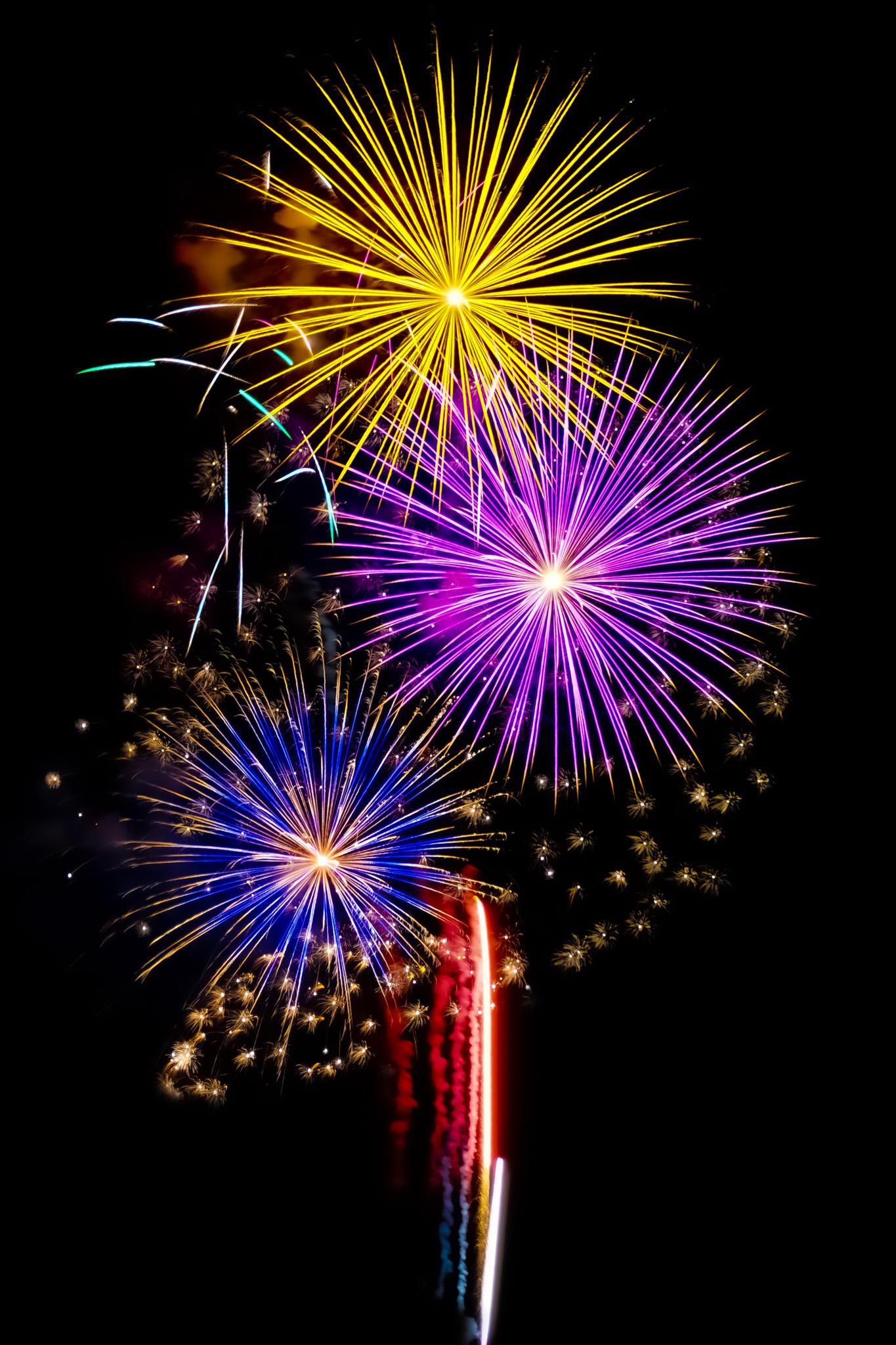 「煌めく花火が美しい夏の花火大会」の画像を無料ダウンロード