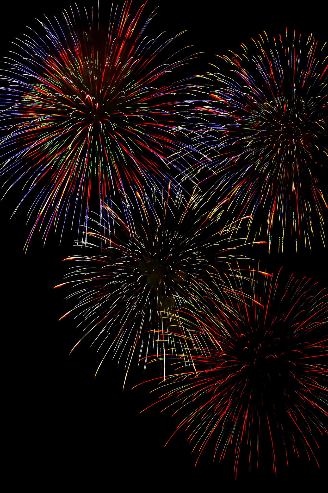「煌めく花火の撮影画像」のテクスチャを無料ダウンロード