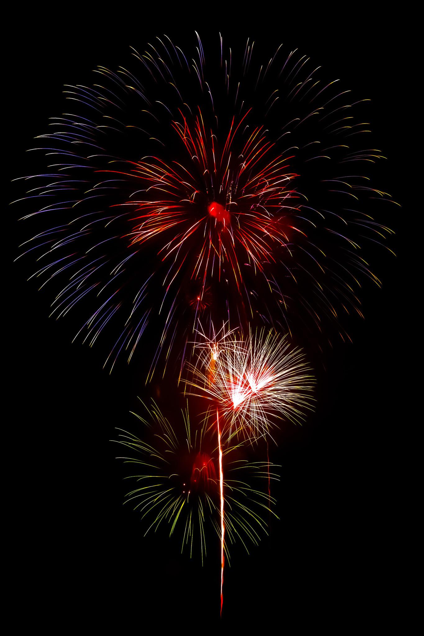 「輝く花火の撮影画像」のテクスチャを無料ダウンロード