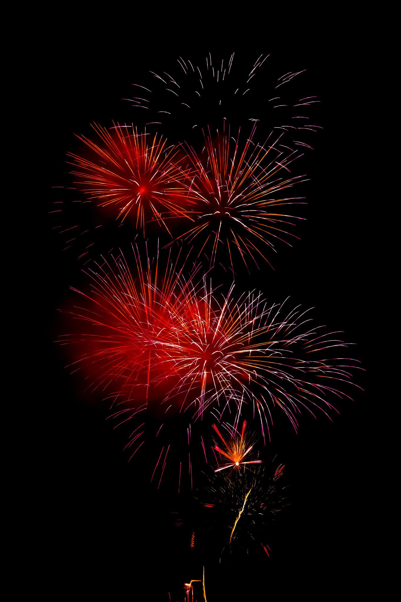 「美しい花火と夜空」のテクスチャを無料ダウンロード