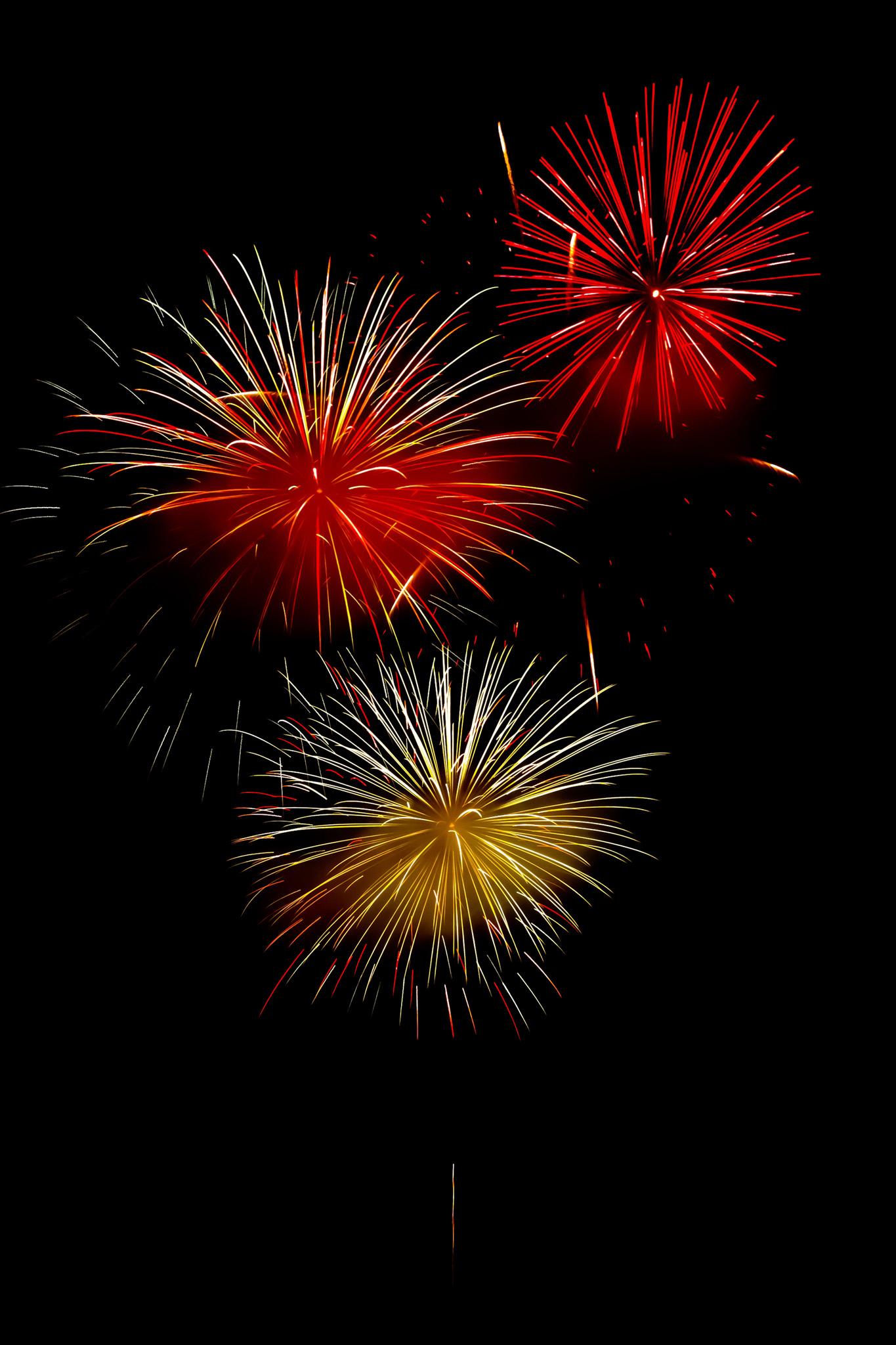 「煌びやかな花火と夜空」のテクスチャを無料ダウンロード