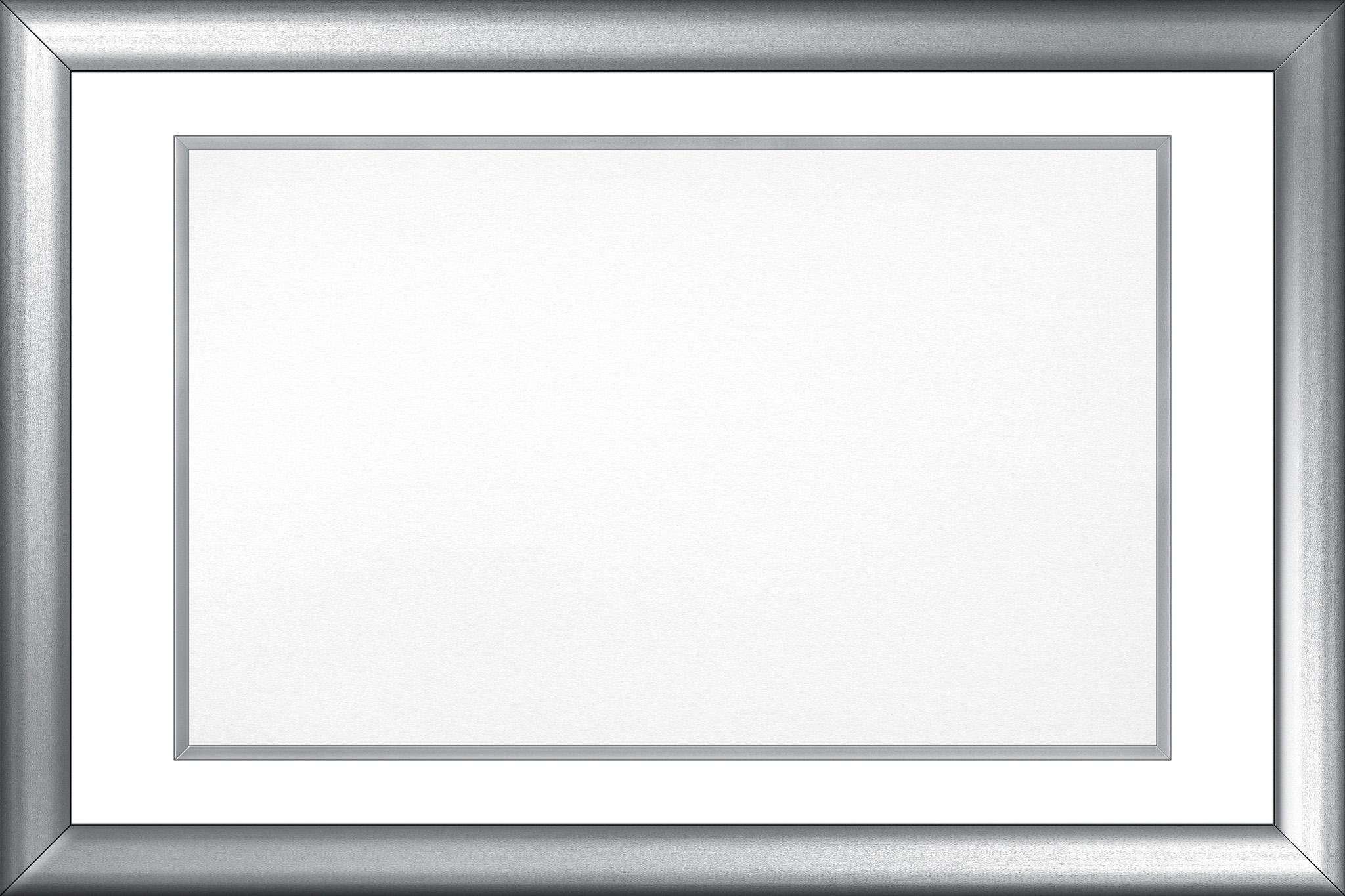 「シルバーのフレーム素材」の素材を無料ダウンロード