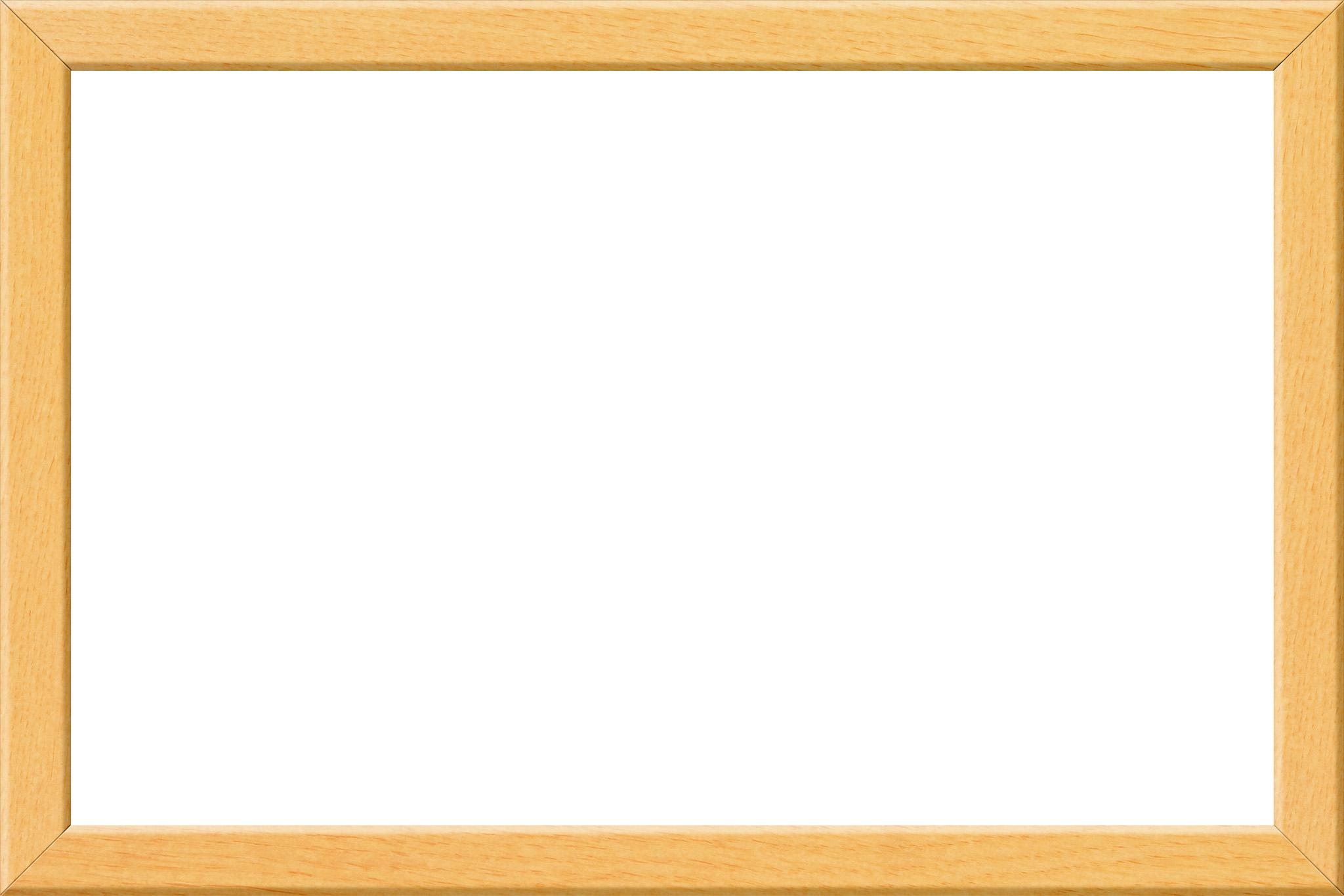 「明るい雰囲気の木製の額縁」