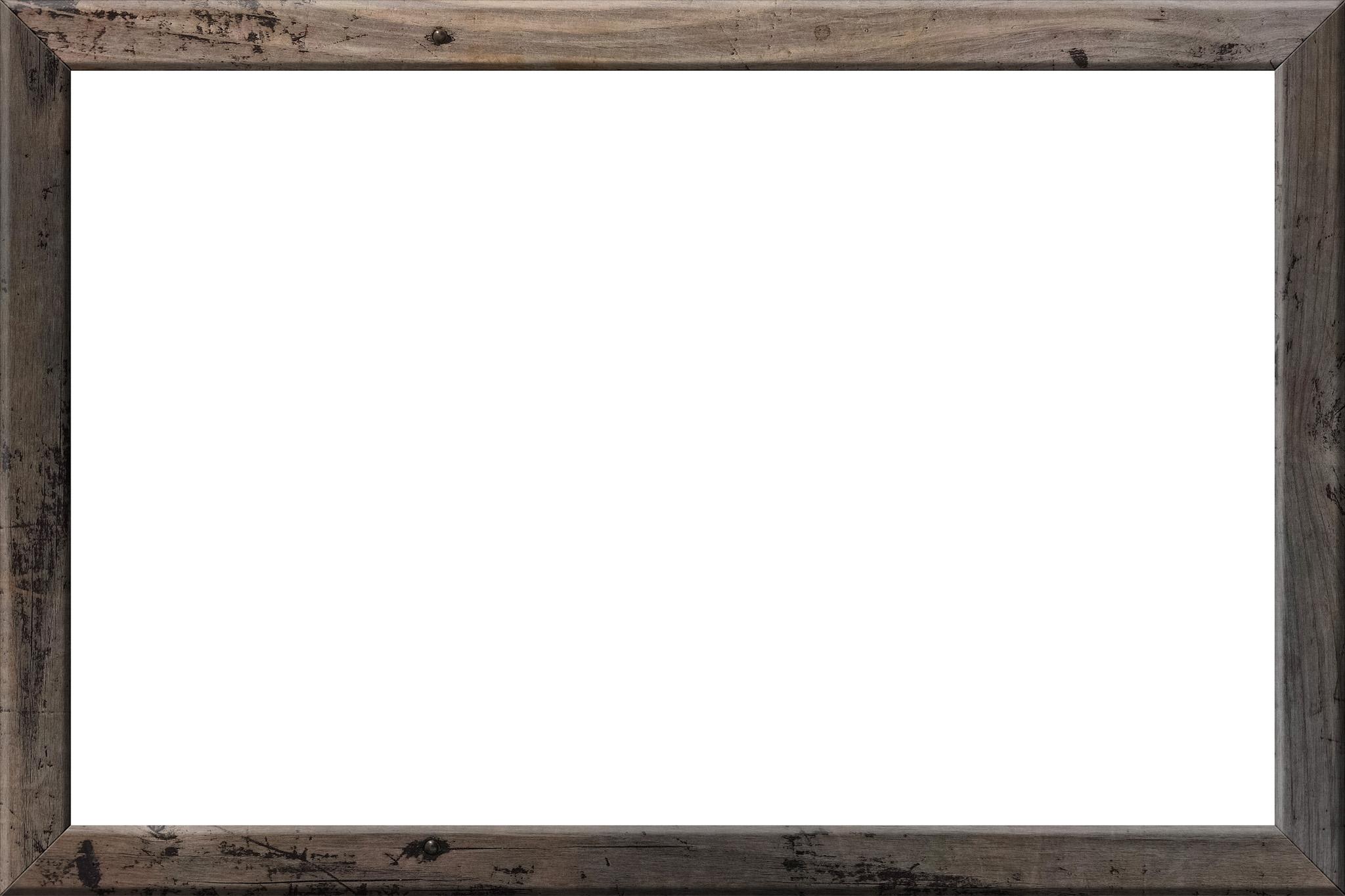 「使い古された木製額縁」