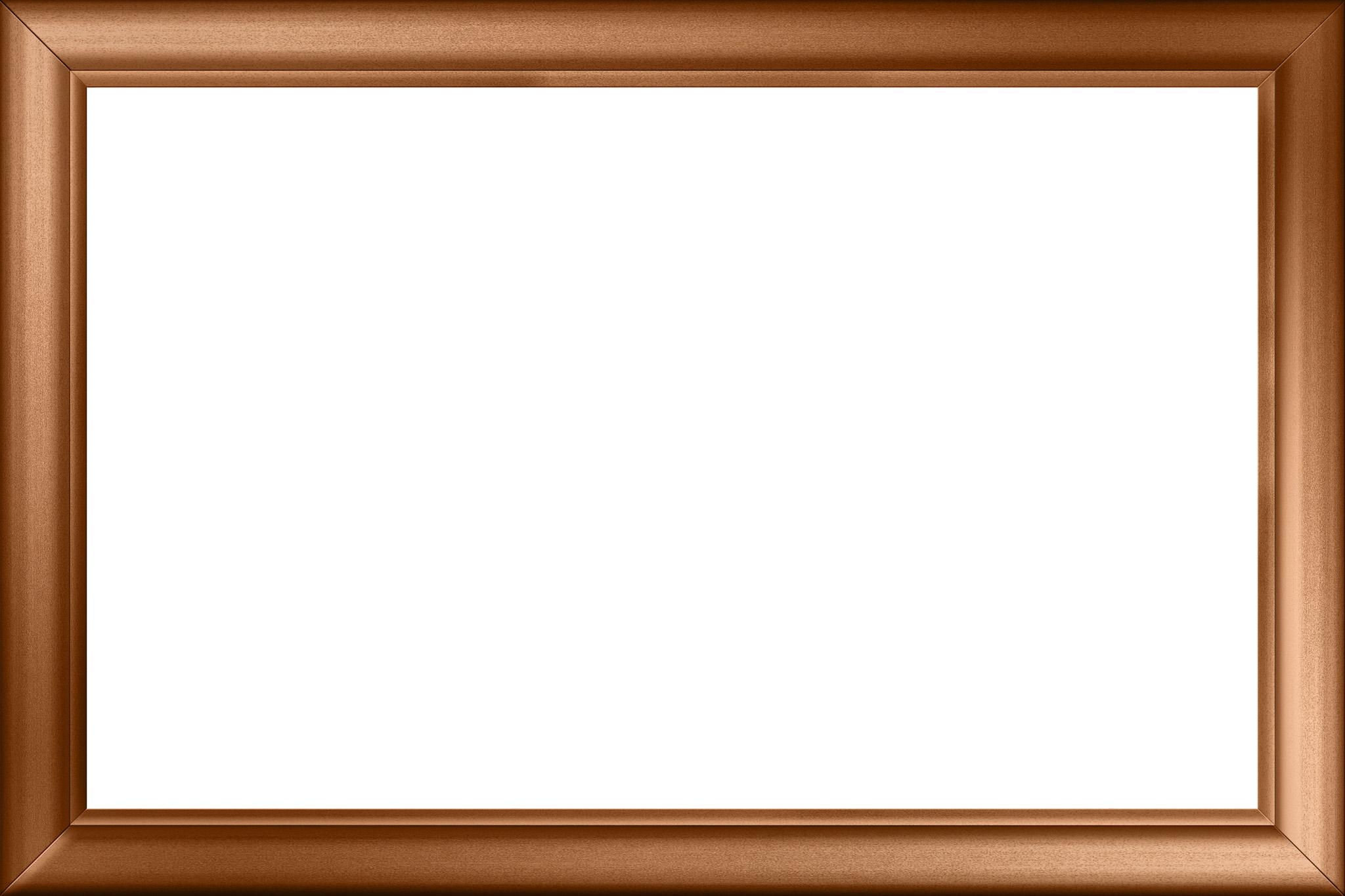 「銅製のクラッシックなフレーム枠」