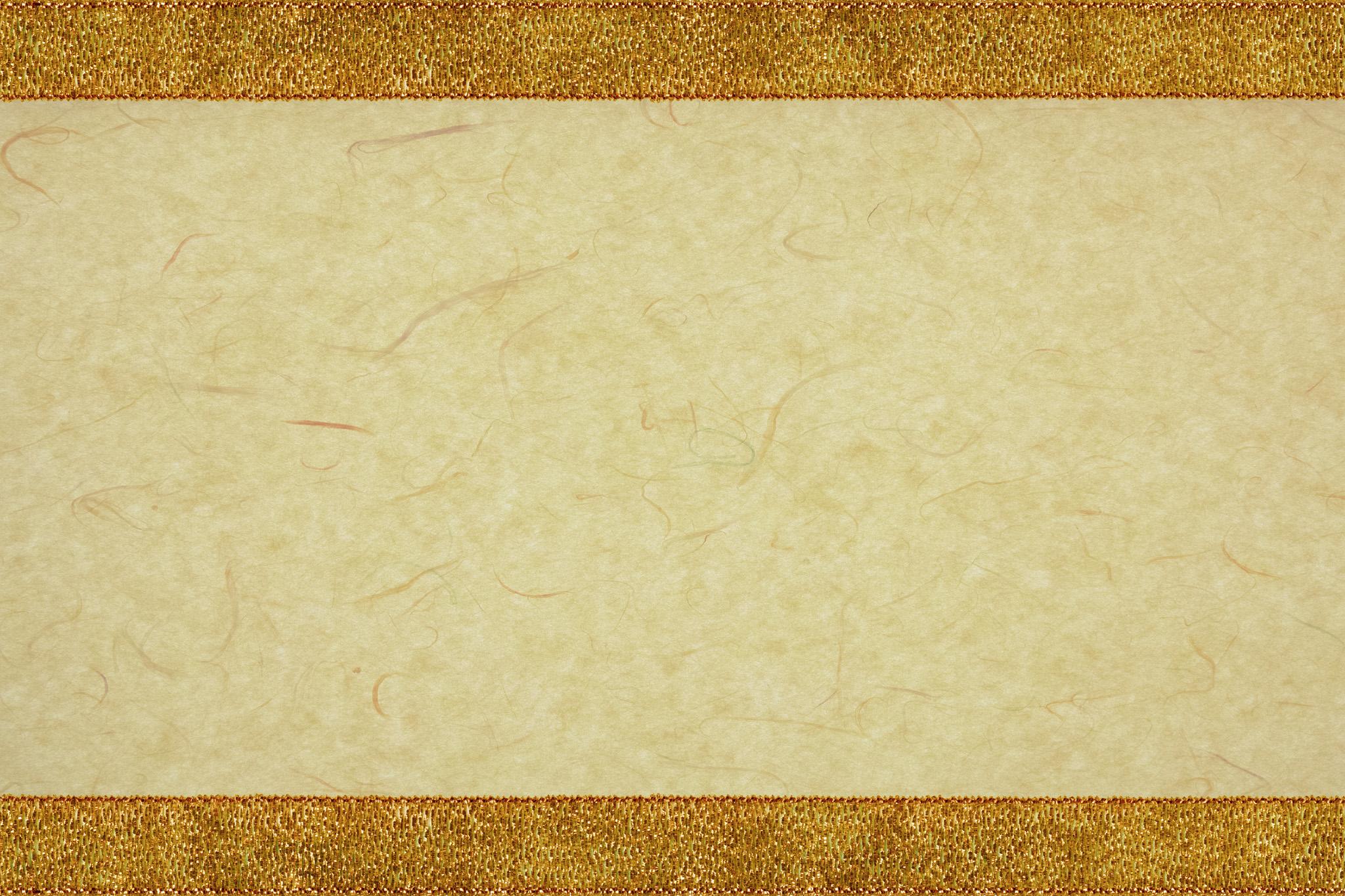 「和紙に金帯の和風フレーム」の背景を無料ダウンロード