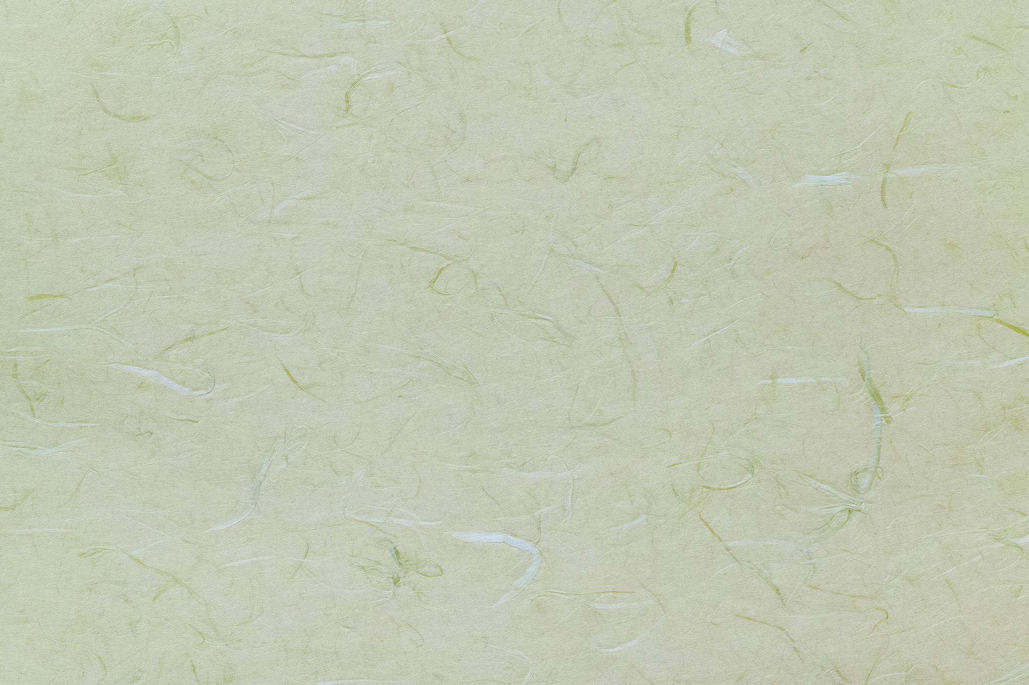「緑と白の楮繊維が入った柳鼠色の雲竜和紙」の背景を無料ダウンロード