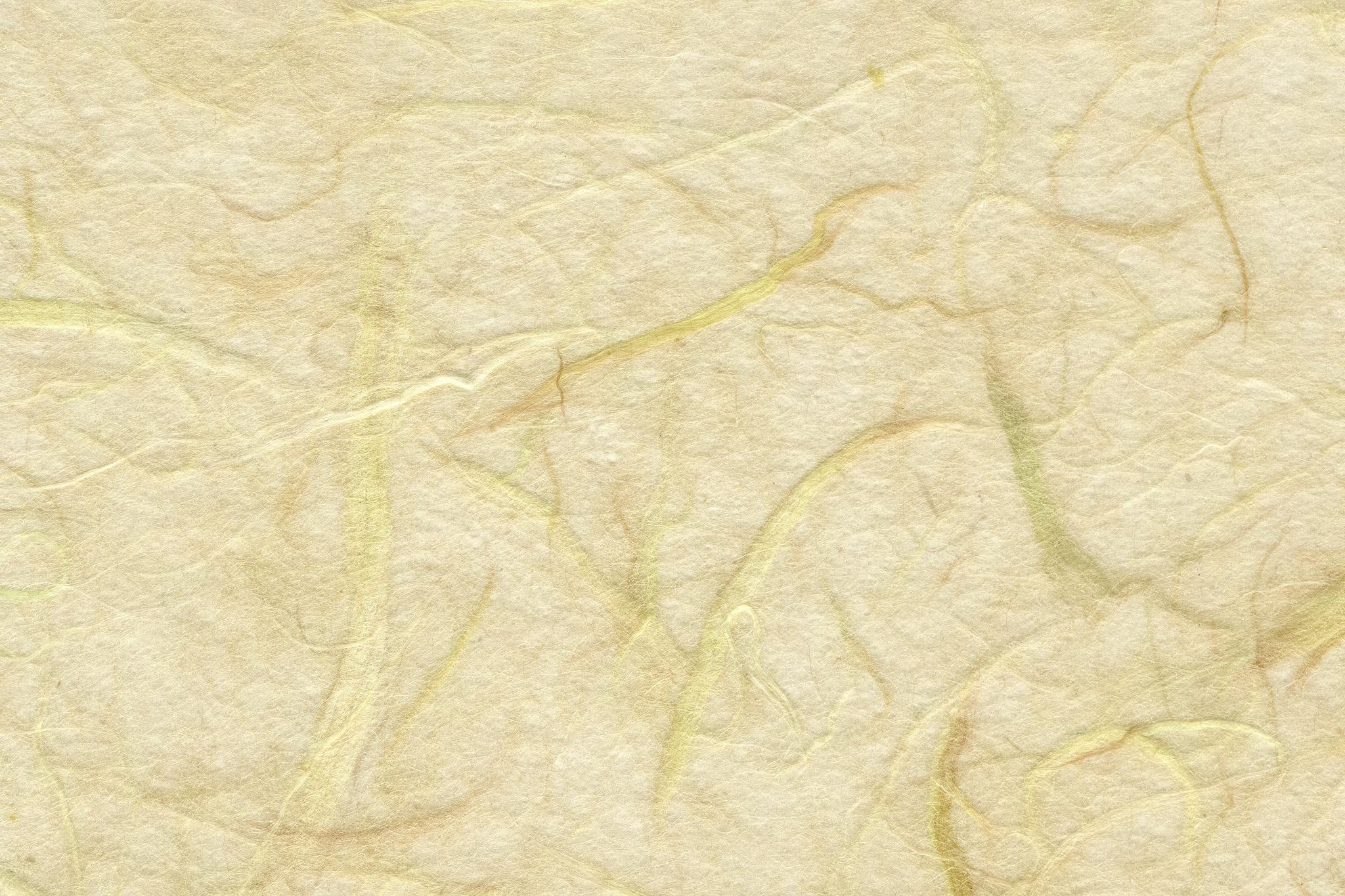 「粗い筋の入った淡黄蘗色の和紙」の背景を無料ダウンロード