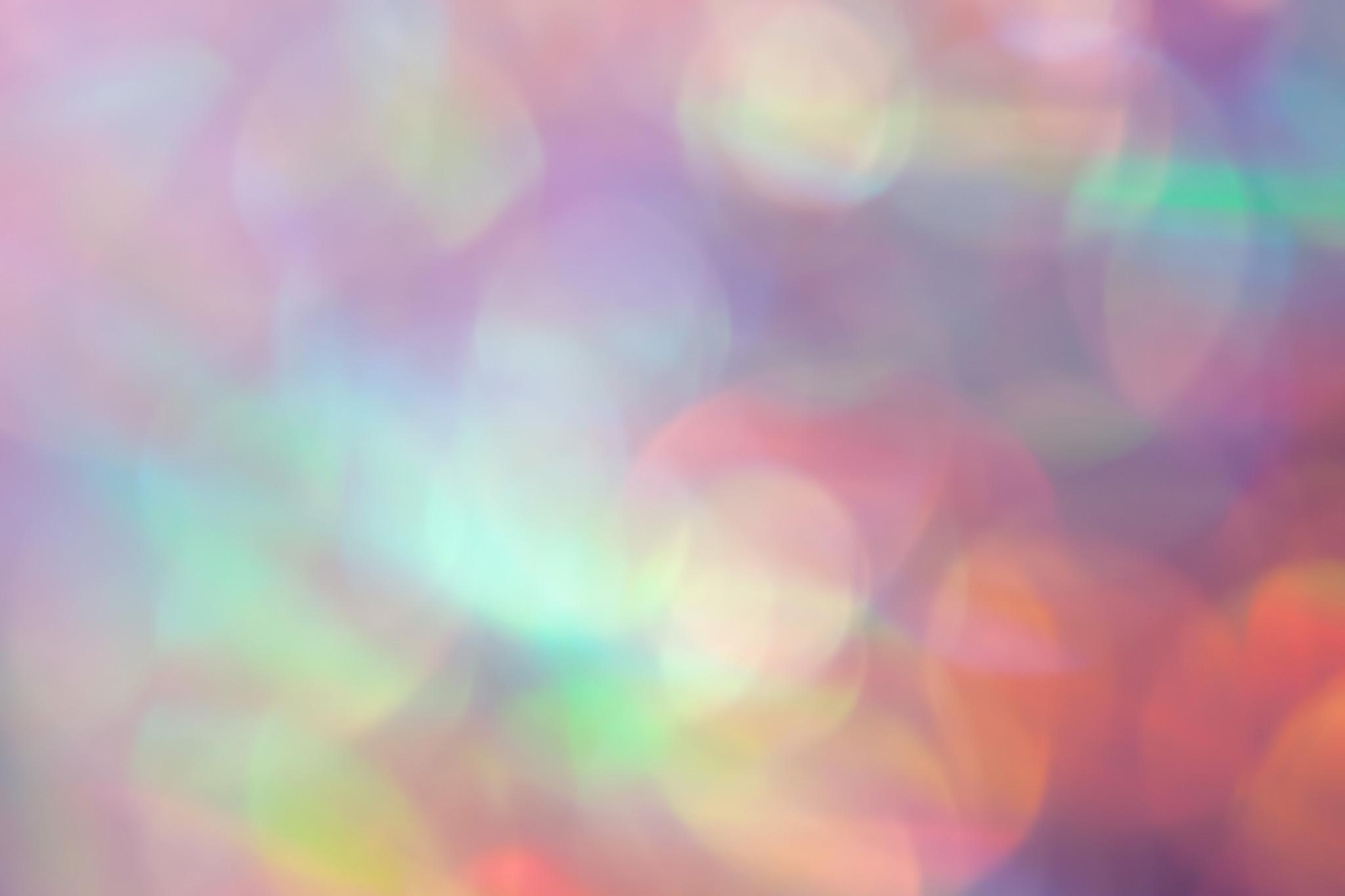 幻想的な光のボケ