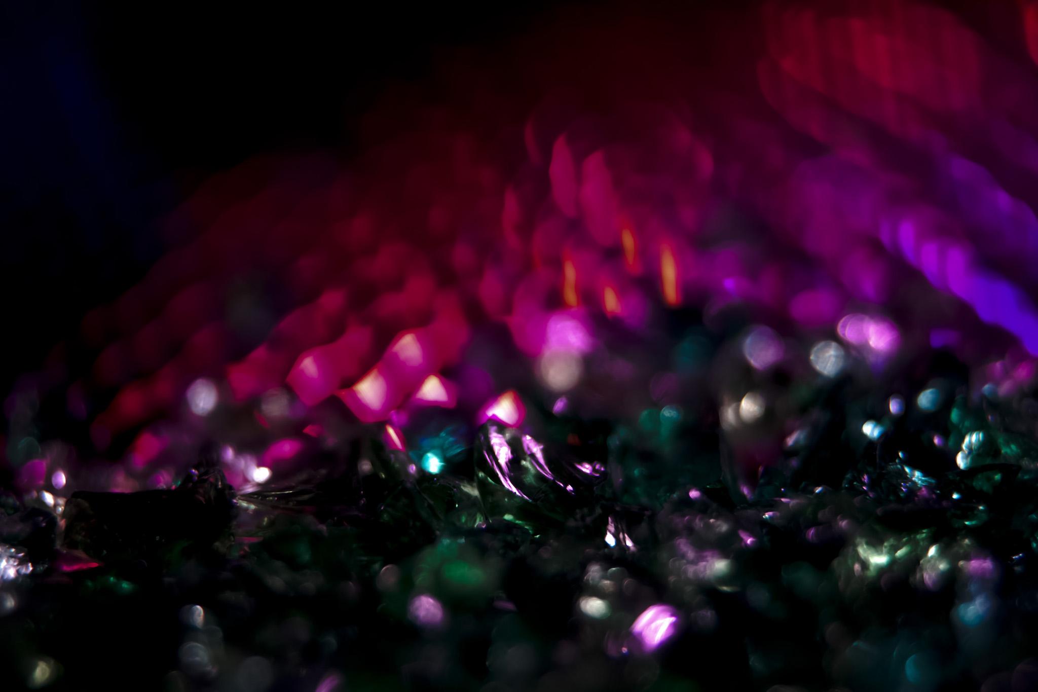 「ピンクと緑のキラキラ」