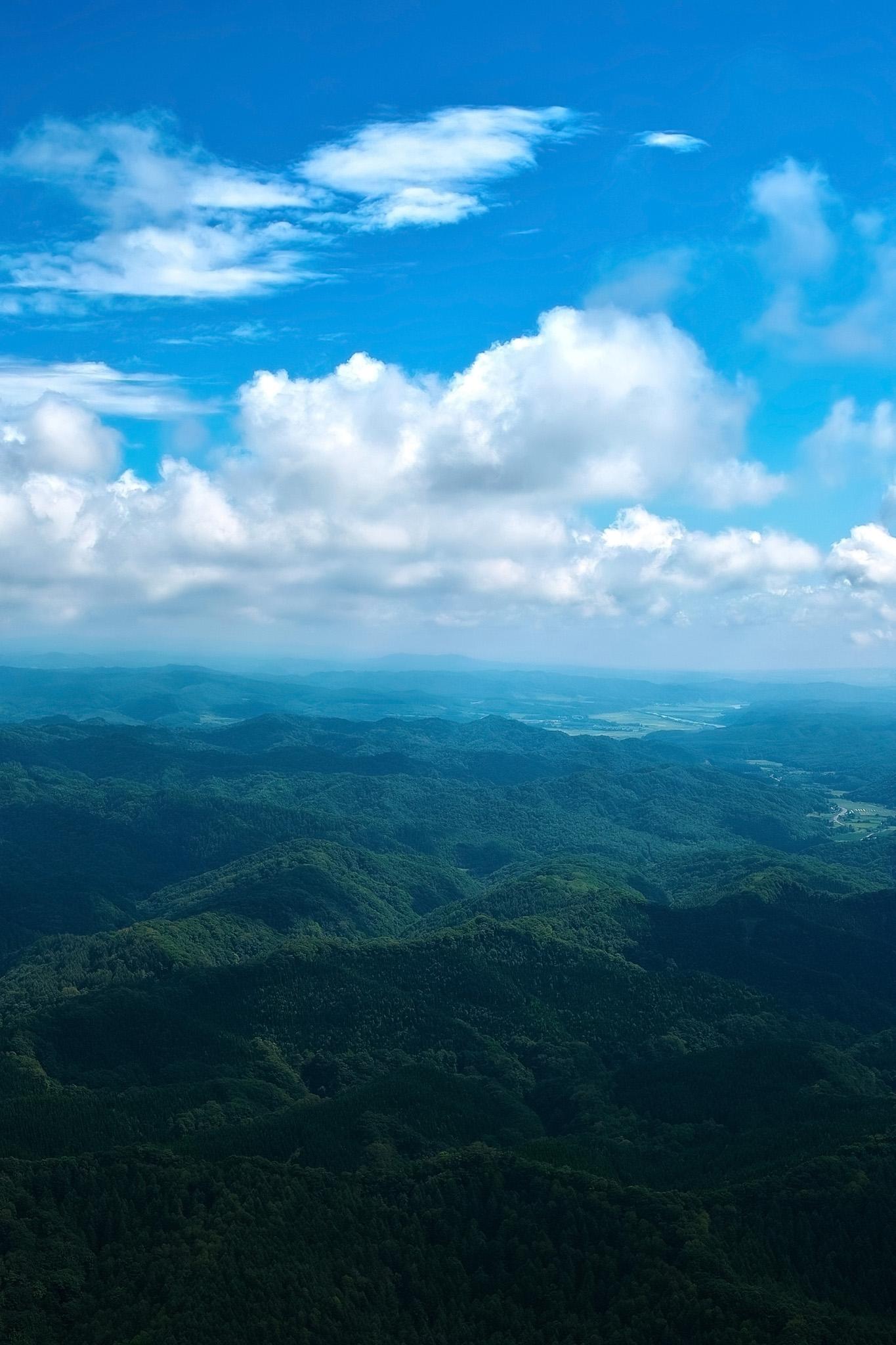 「美しい山の景色」