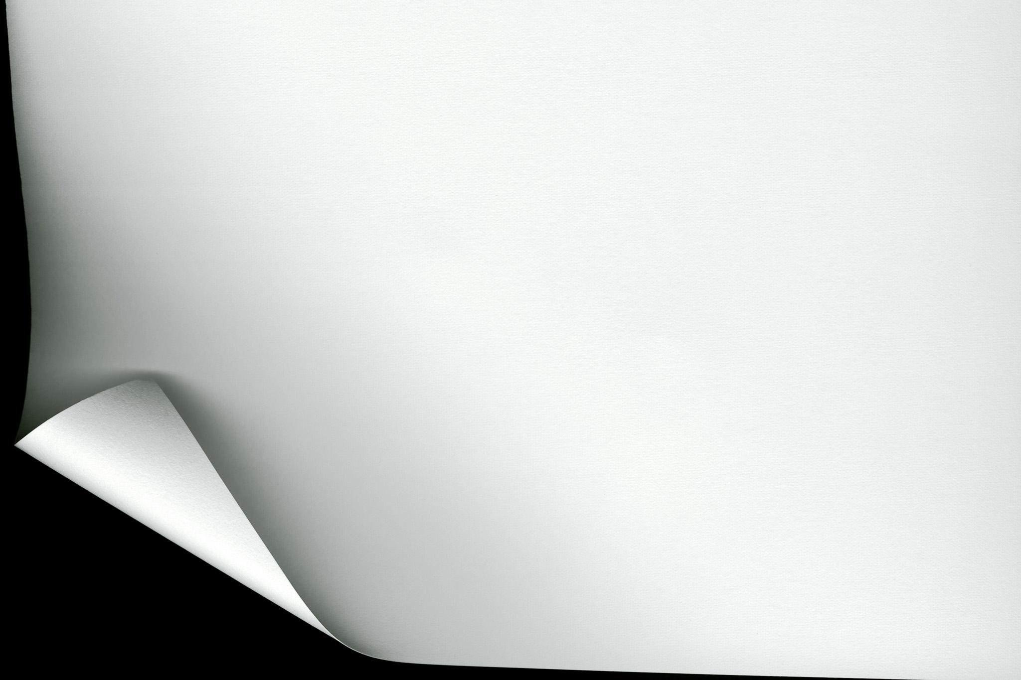 角がカールした紙のテクスチャ