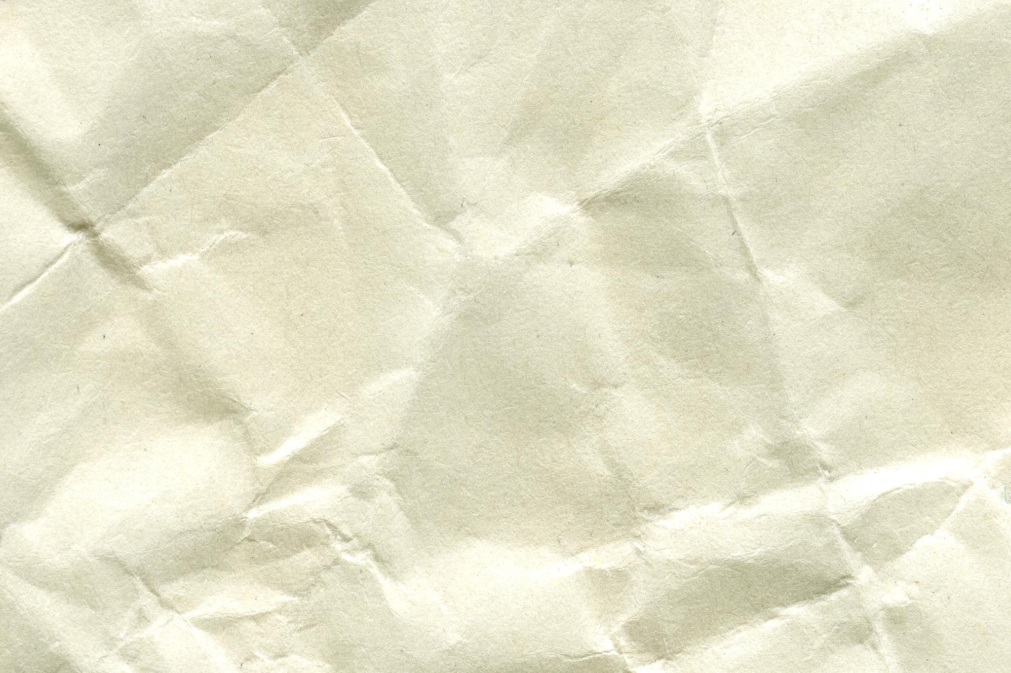 「折目のような皺の入った紙」