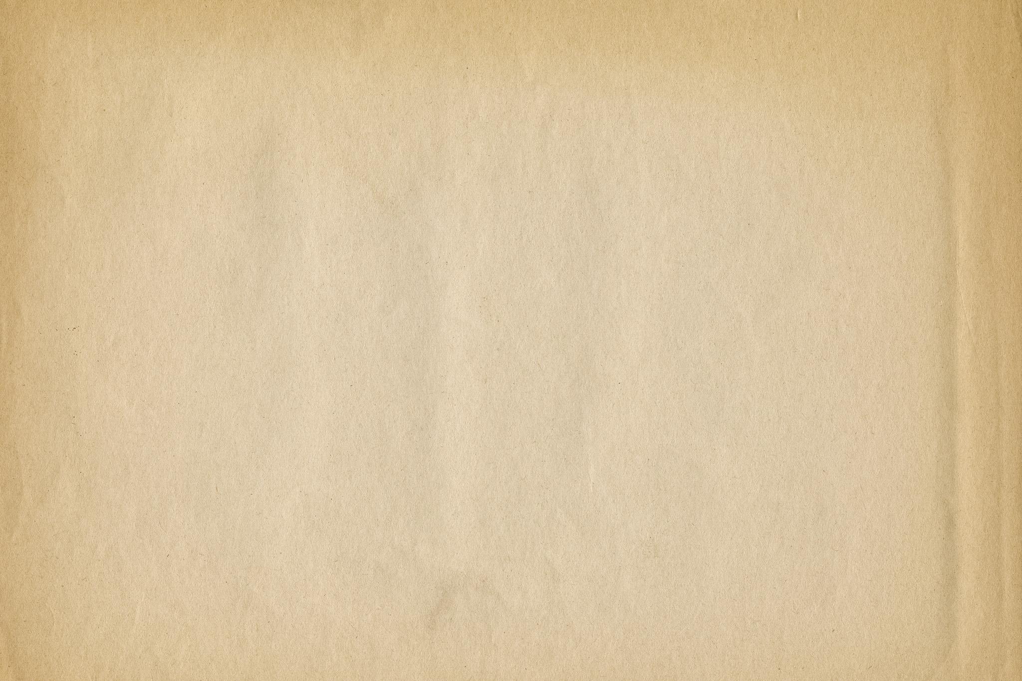 「縁が焼けた茶色く古い紙」の素材を無料ダウンロード