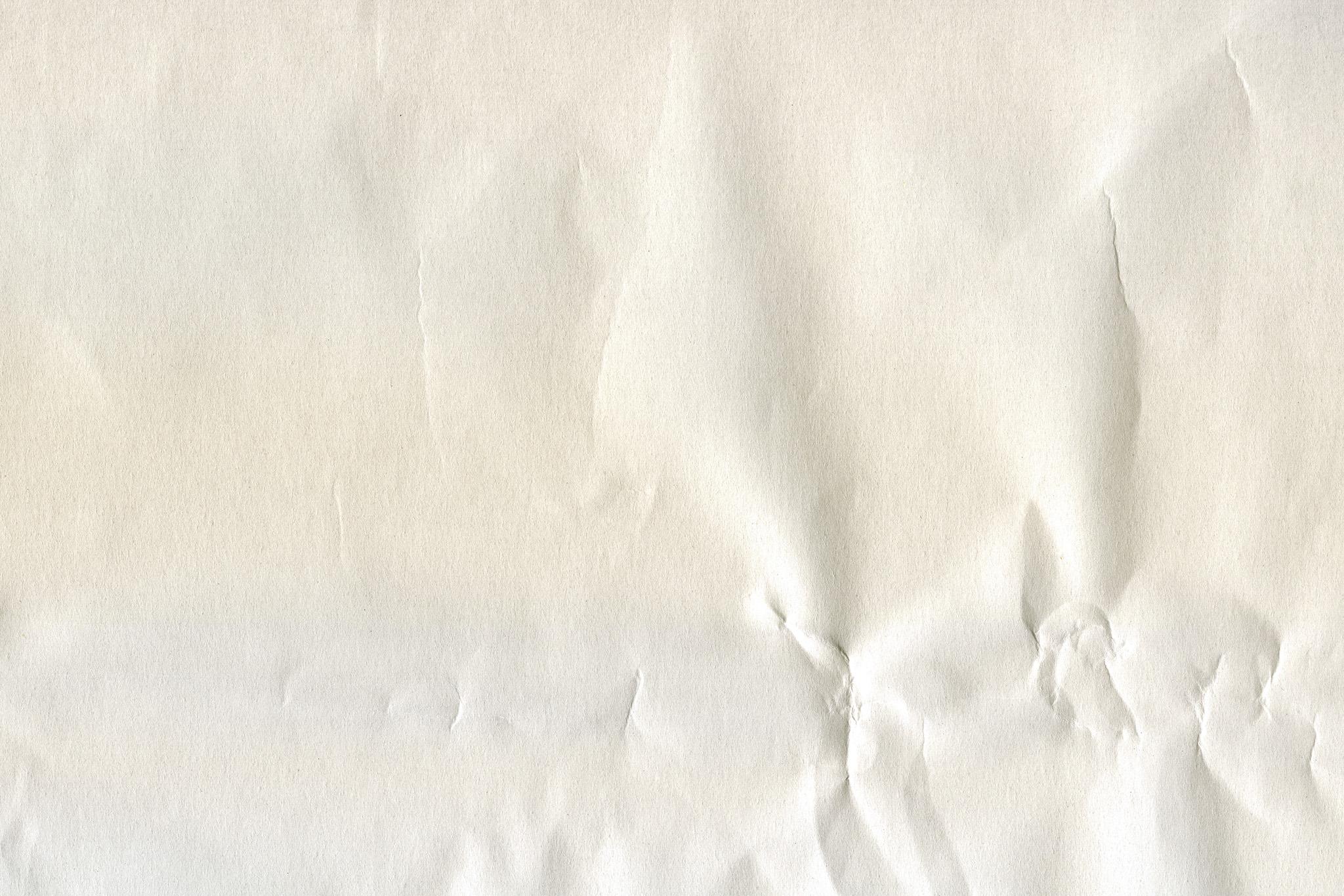 「硬い大きなシワのある白紙」の素材を無料ダウンロード