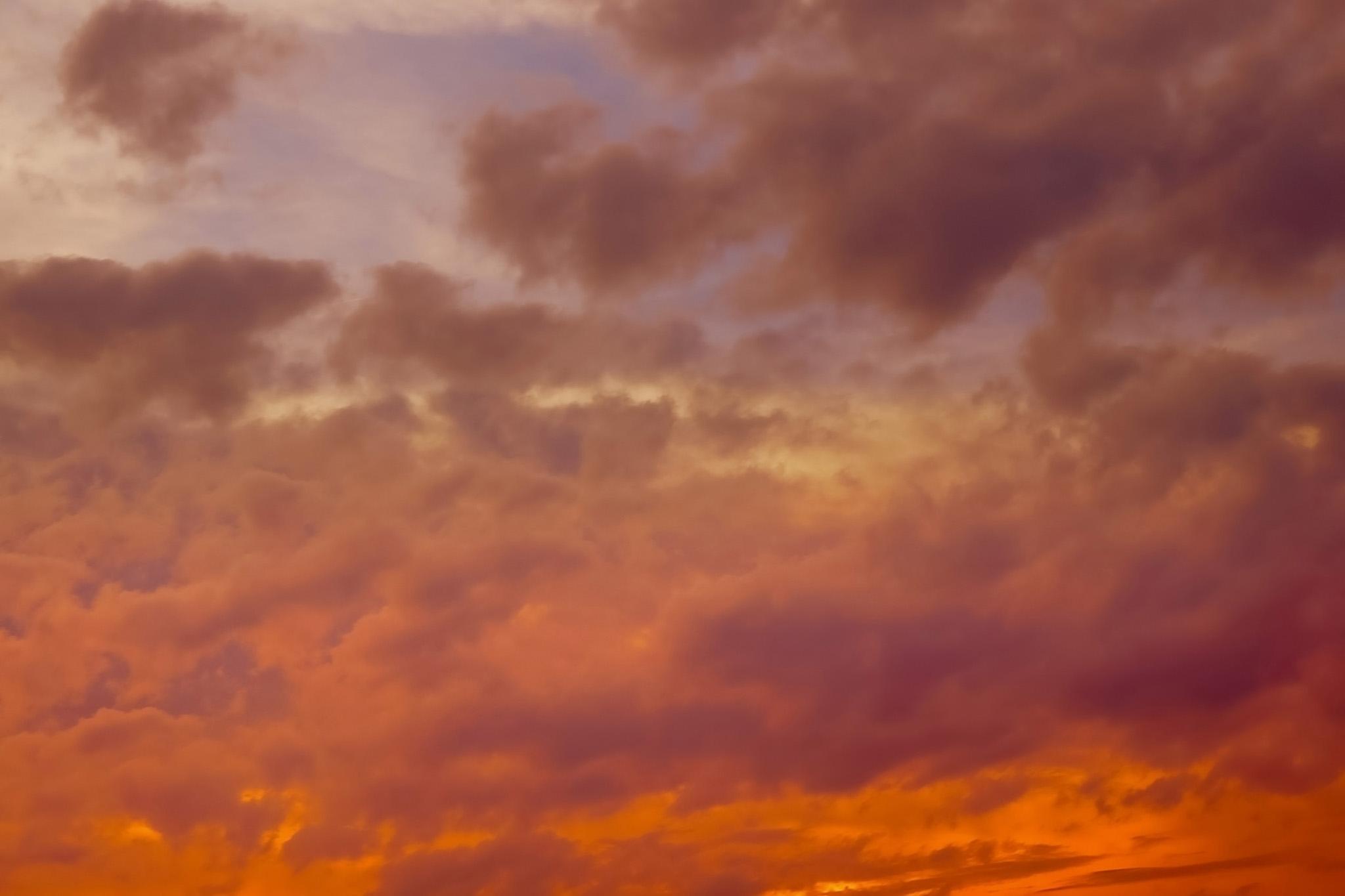 「息をのむ素晴らしい夕焼け」