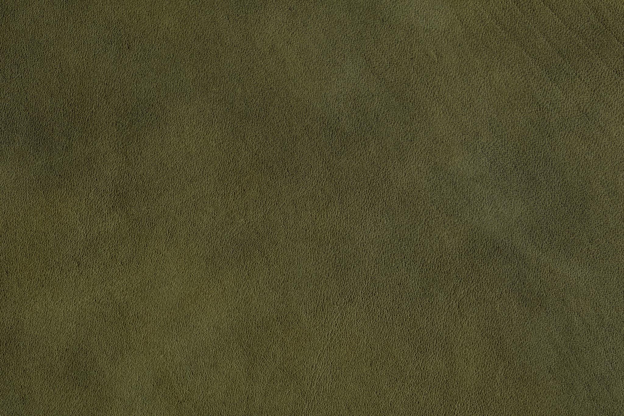 「モスグリーンの革のテクスチャ」