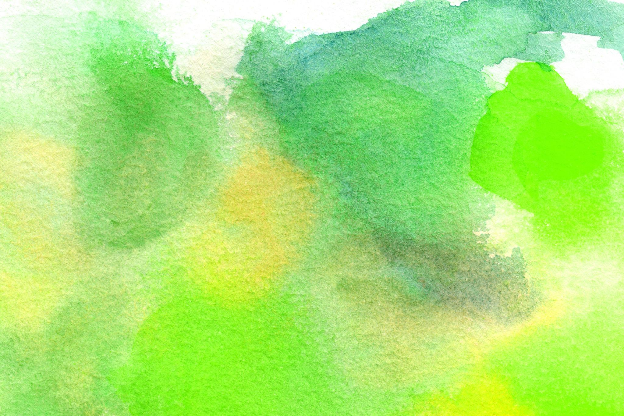 「緑色の水彩のテクスチャ」