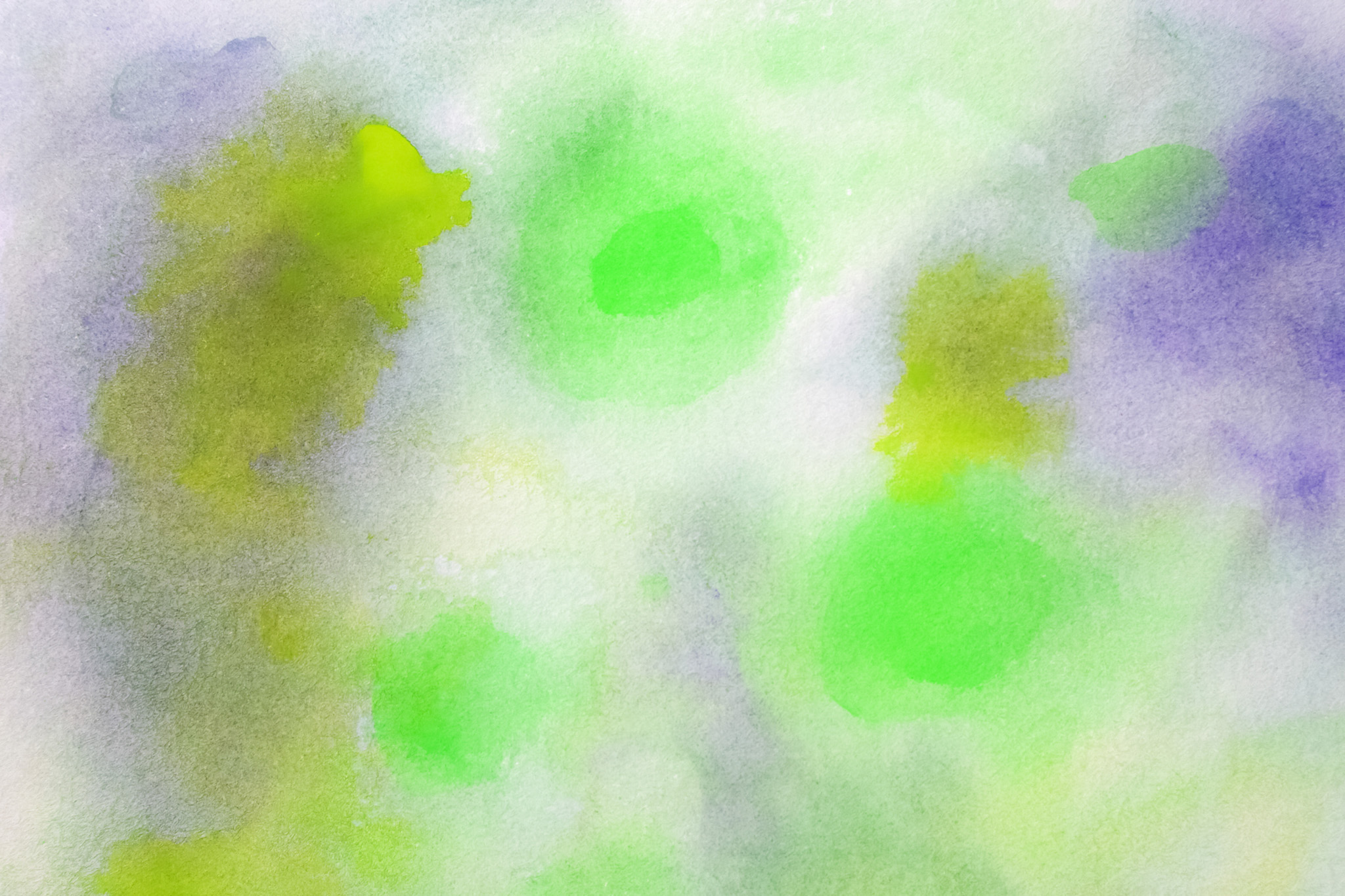 「緑と紫の水彩カラー」