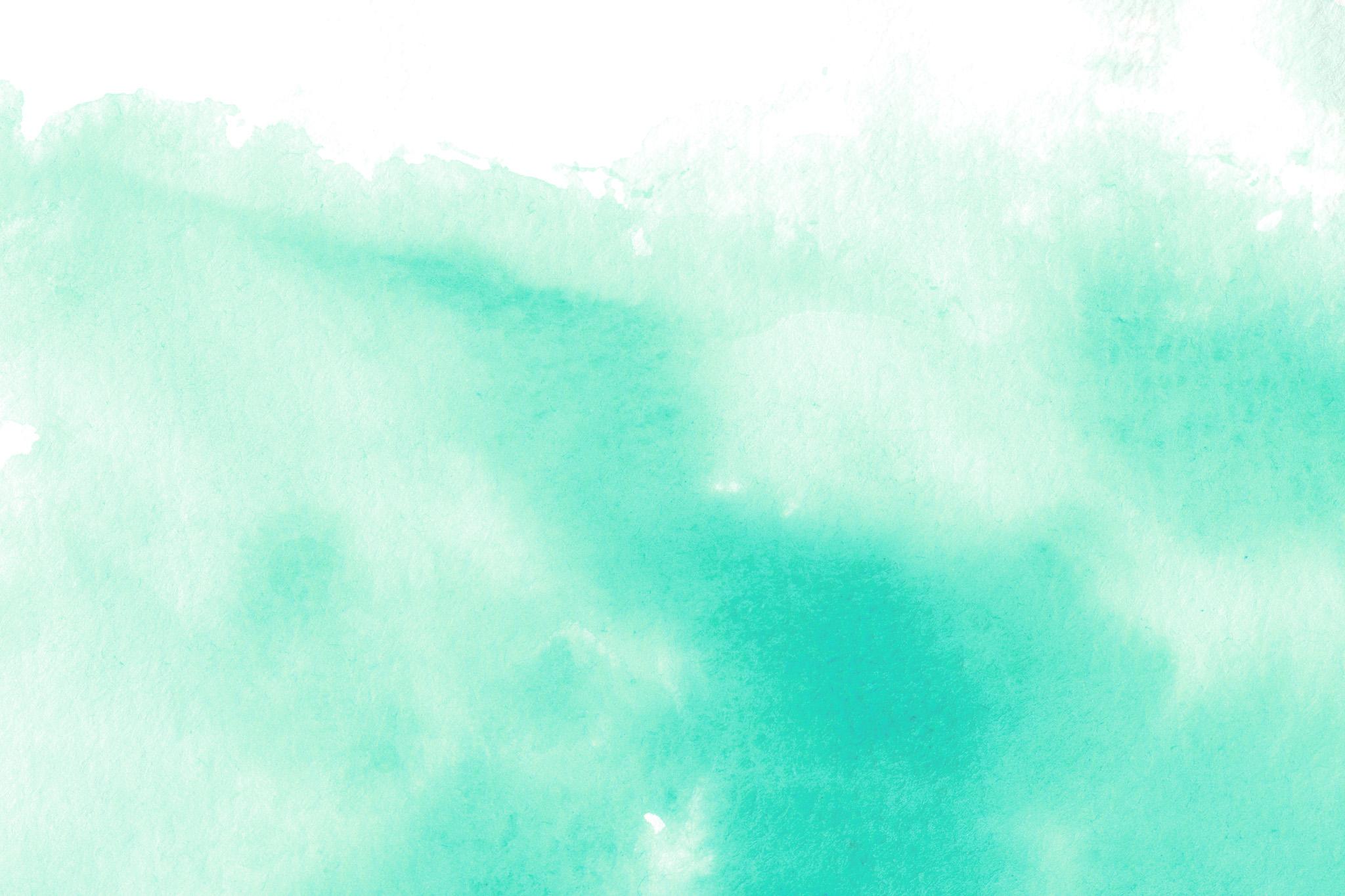 「ナイルブルーの水彩にじみ」
