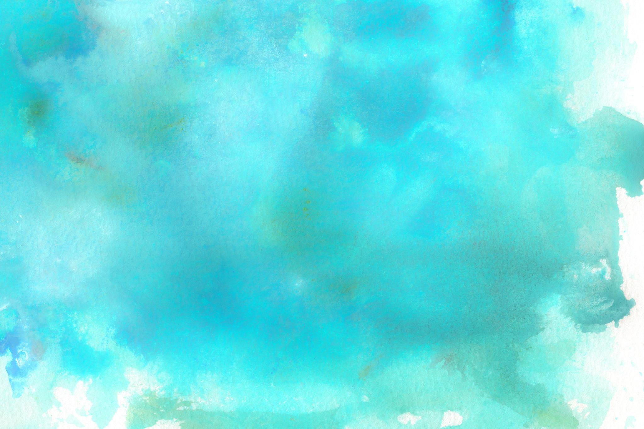 「ターコイズブルーの水彩薄塗り」