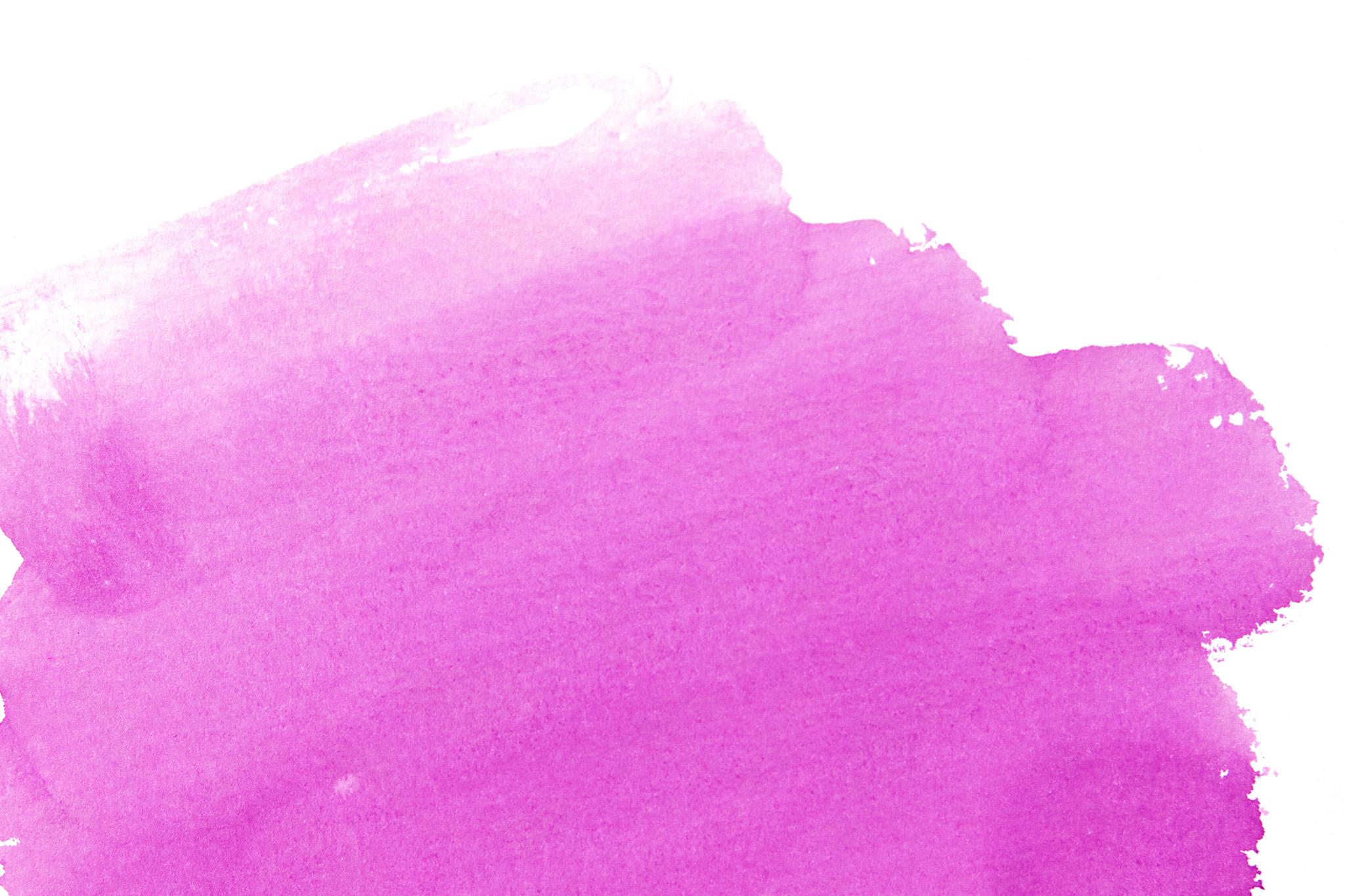 「ピンク色の水彩筆塗り」