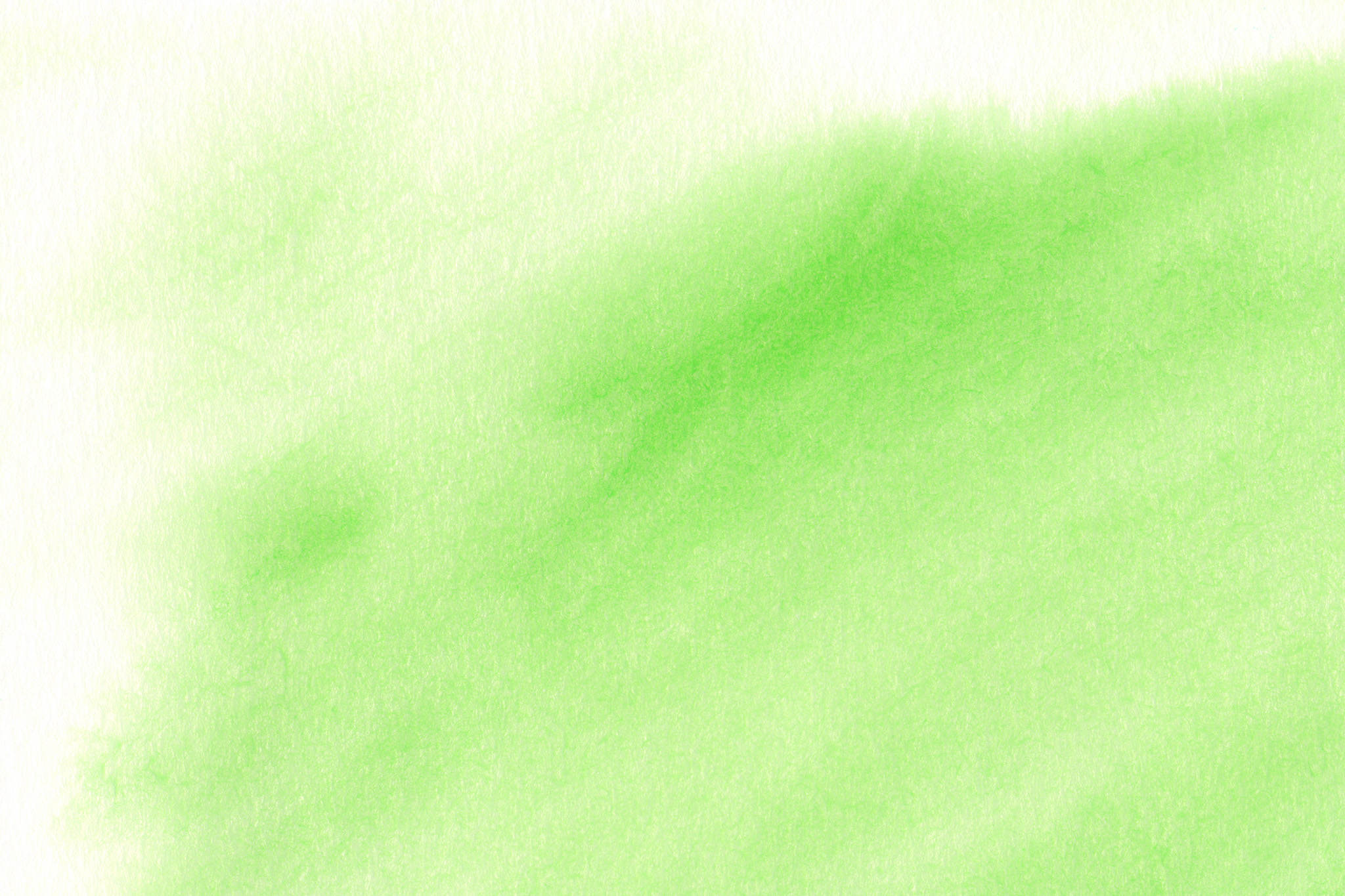 「筆で暈した黄緑色のグラデーション」