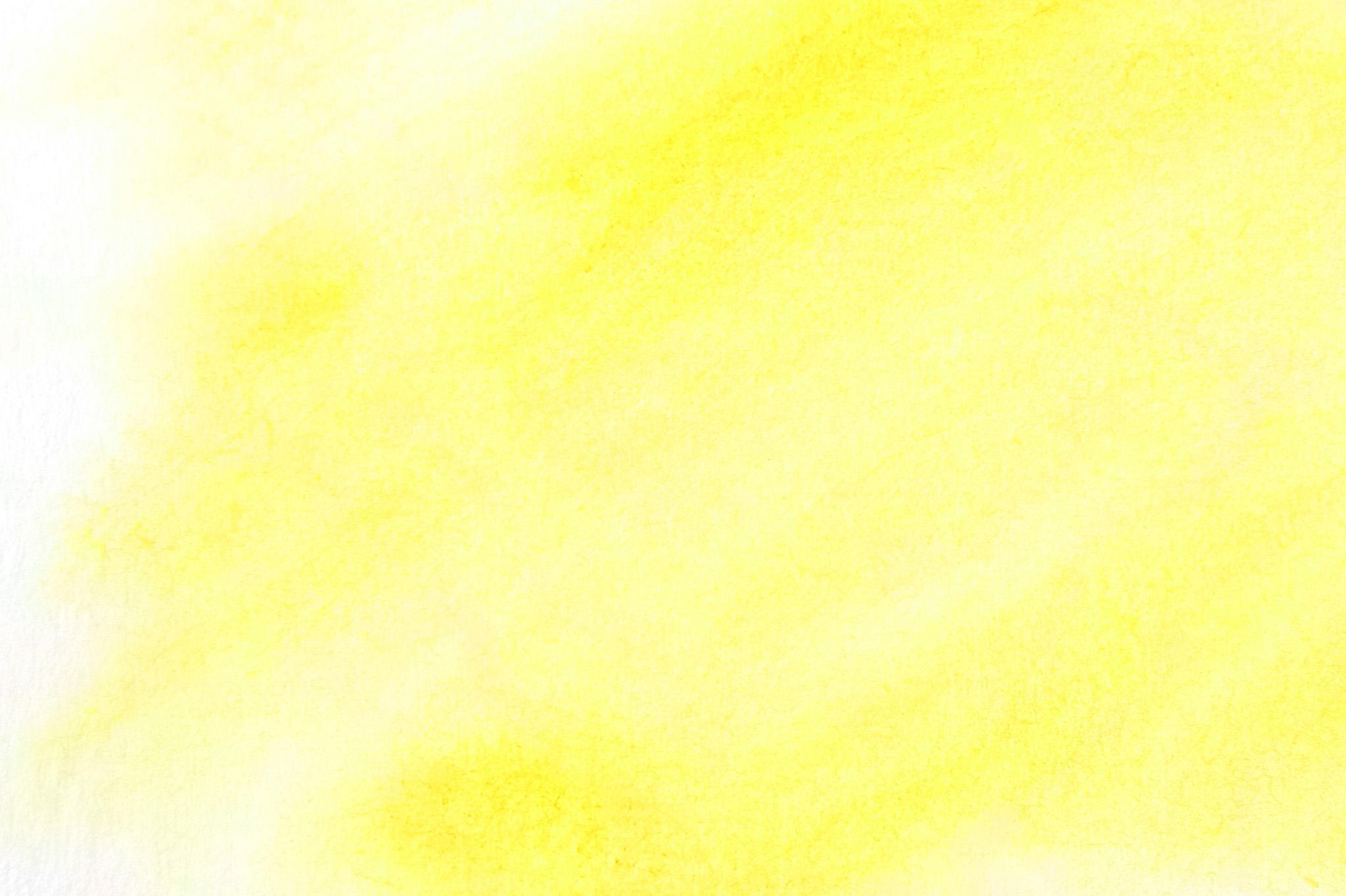「カナリヤ色の水彩ぼかし背景」