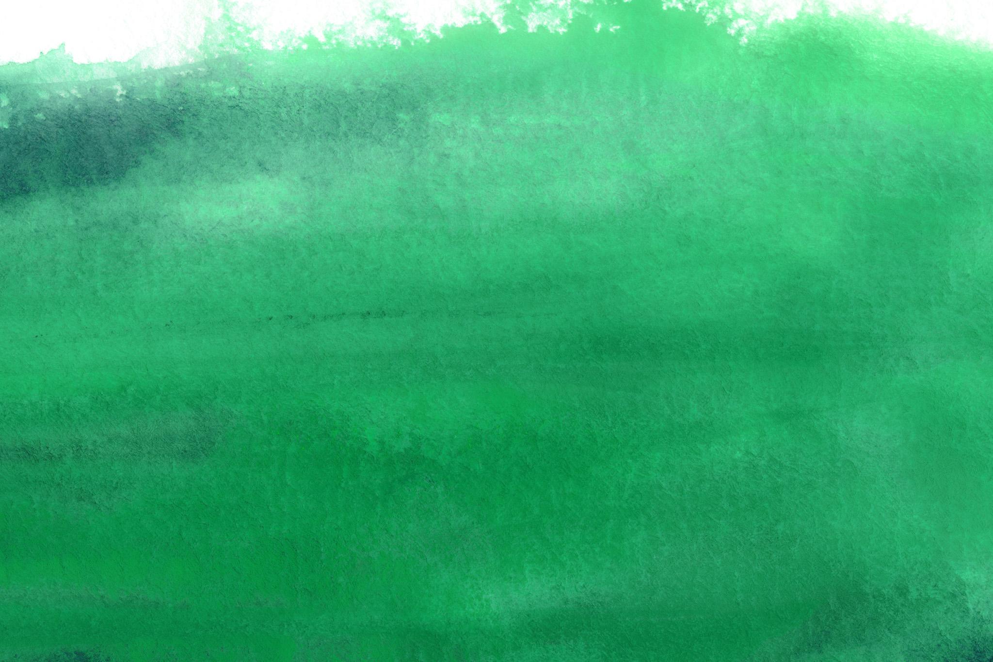 「エバーグリーンの水彩筆塗り」