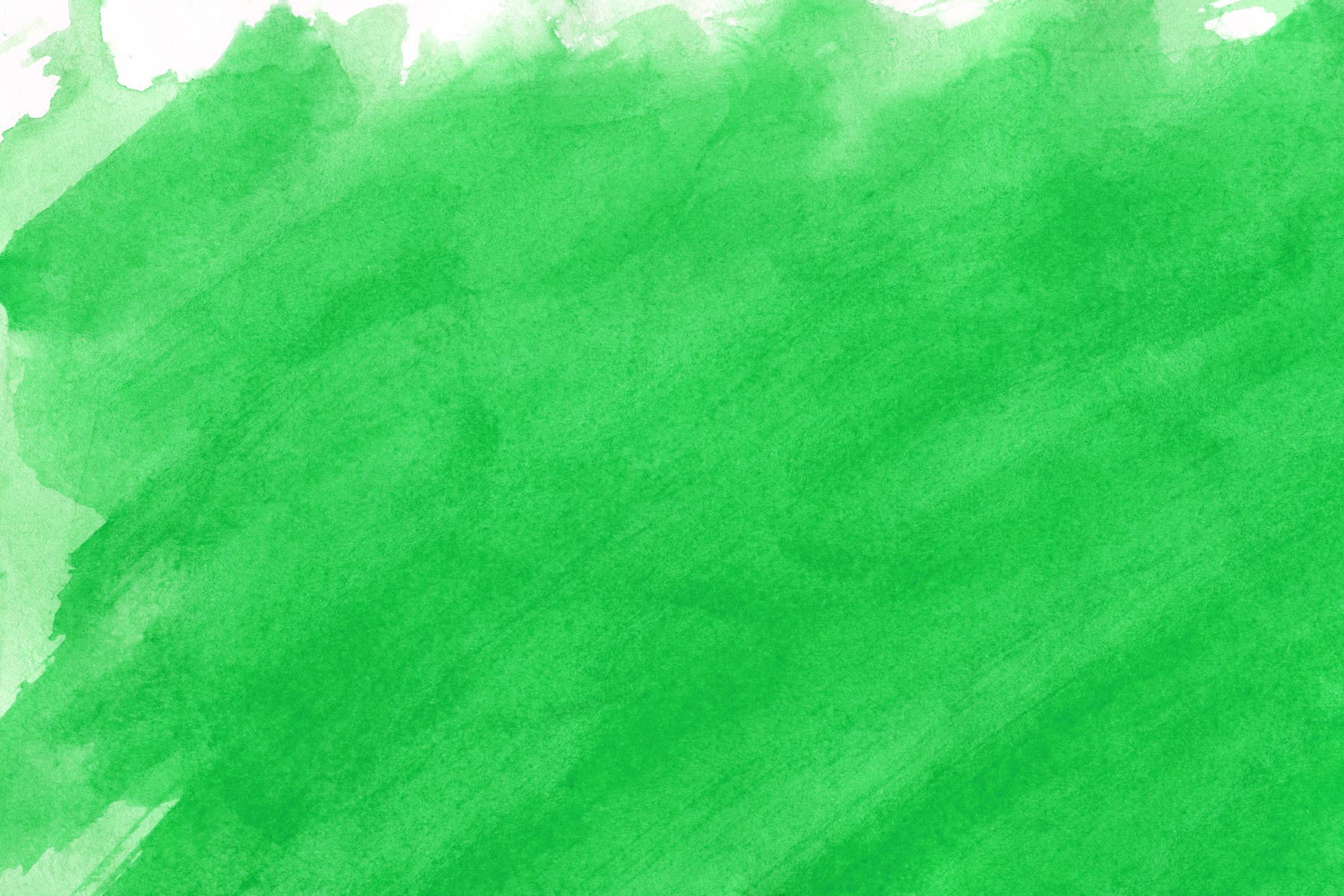 「鮮やかな緑のウオーターカラー背景」