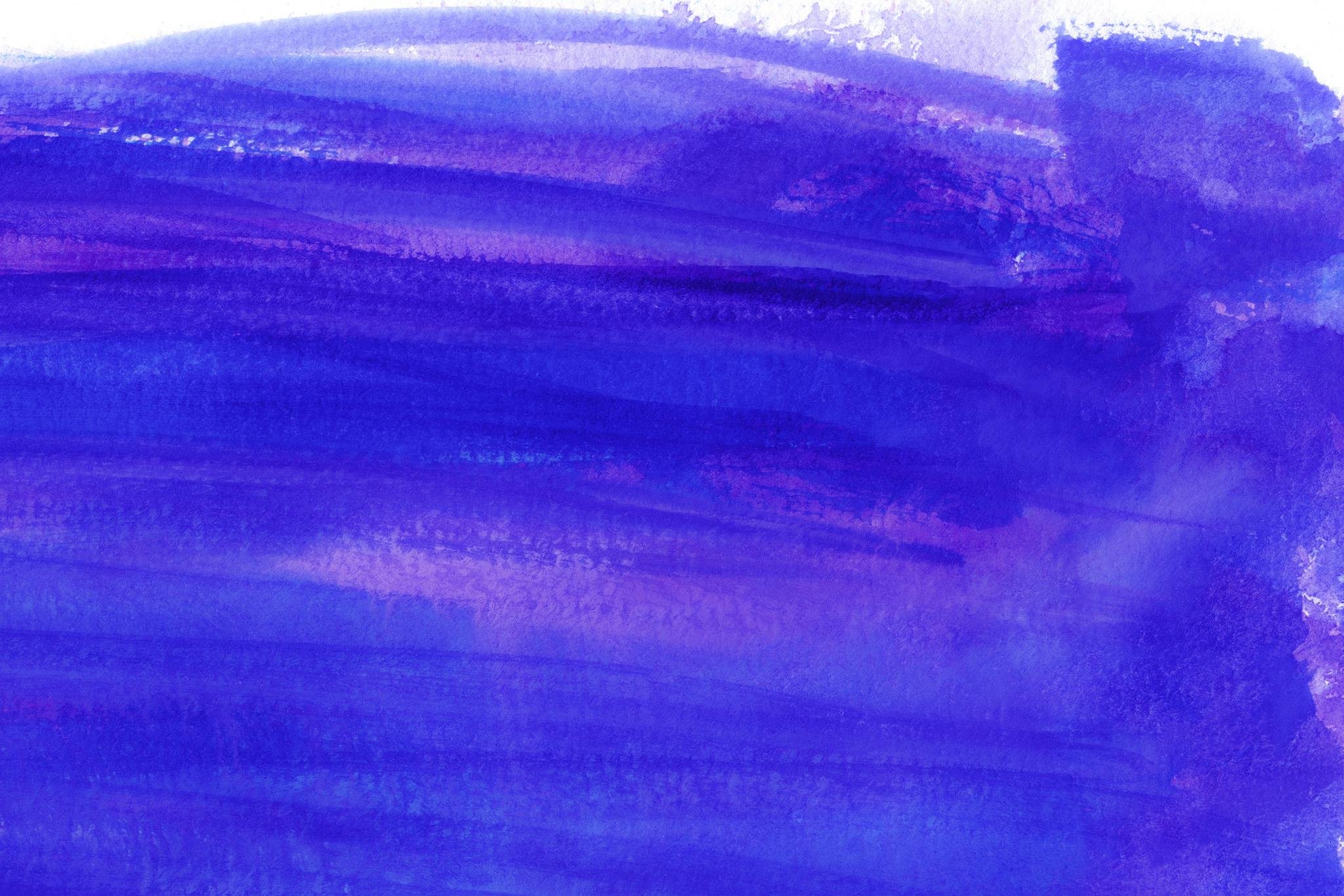 「流れるような紺色の水彩タッチ」