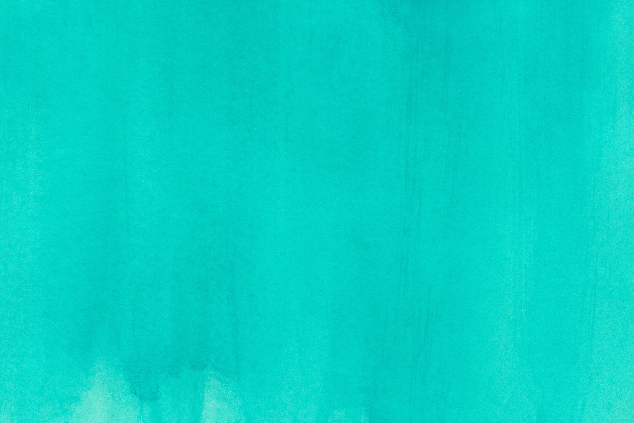 「ピーコックブルーの水彩筆塗り」