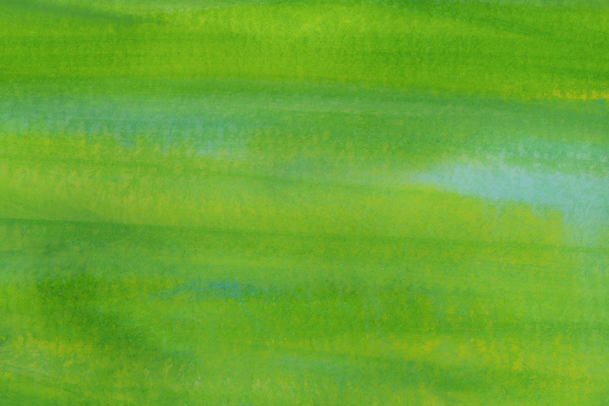 「ブラシで塗ったグリーンの水彩」