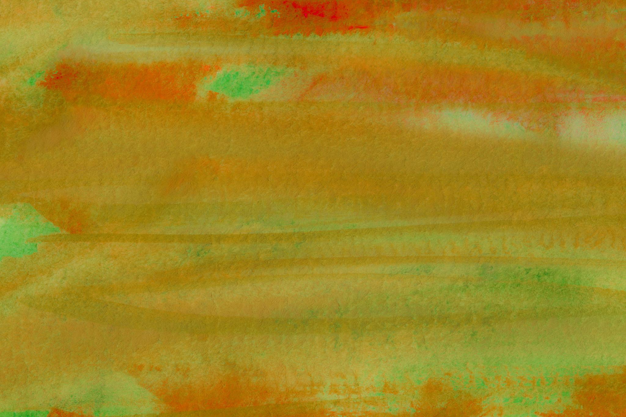 「薄緑を覆う茶色の水彩ストローク」