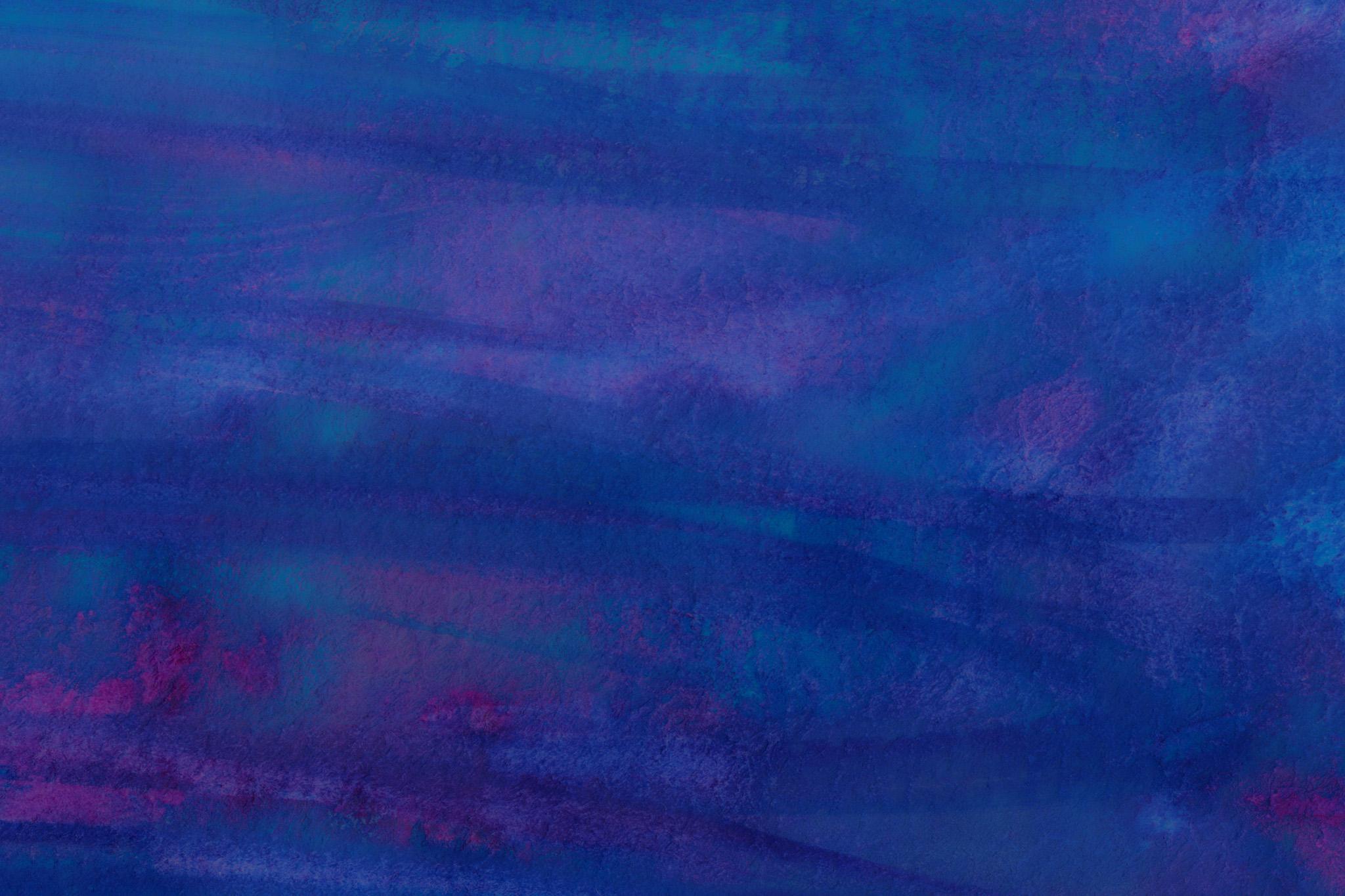 「紺と青紫の水彩筆塗りテクスチャ」