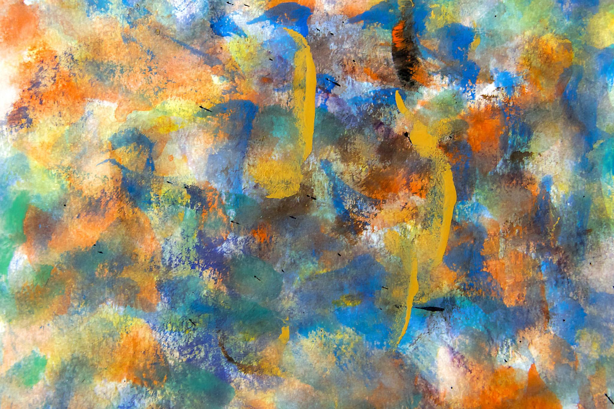 「カラフルな水彩タッチの背景」