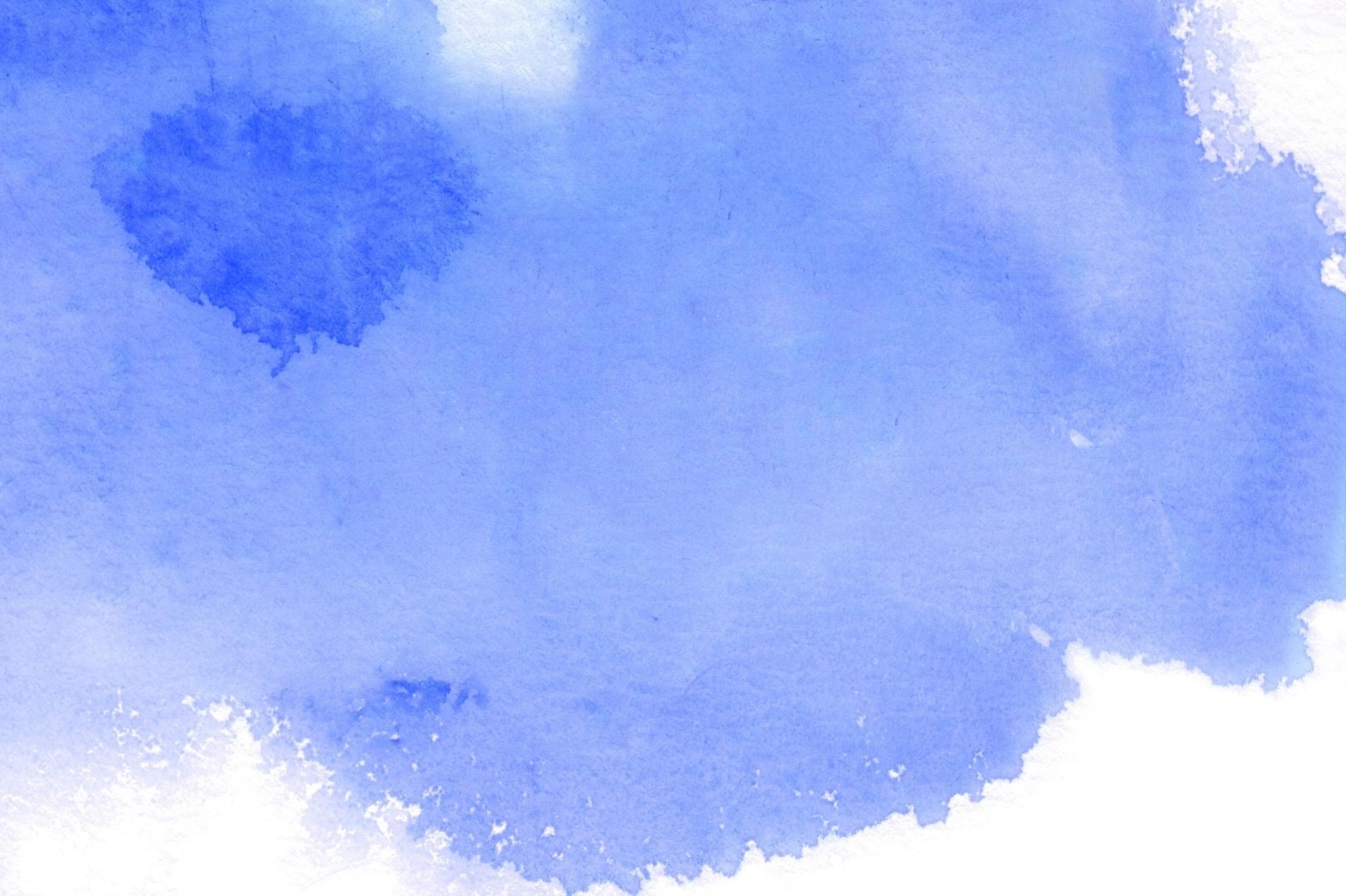 「ウルトラマリンブルーの水彩薄塗り」