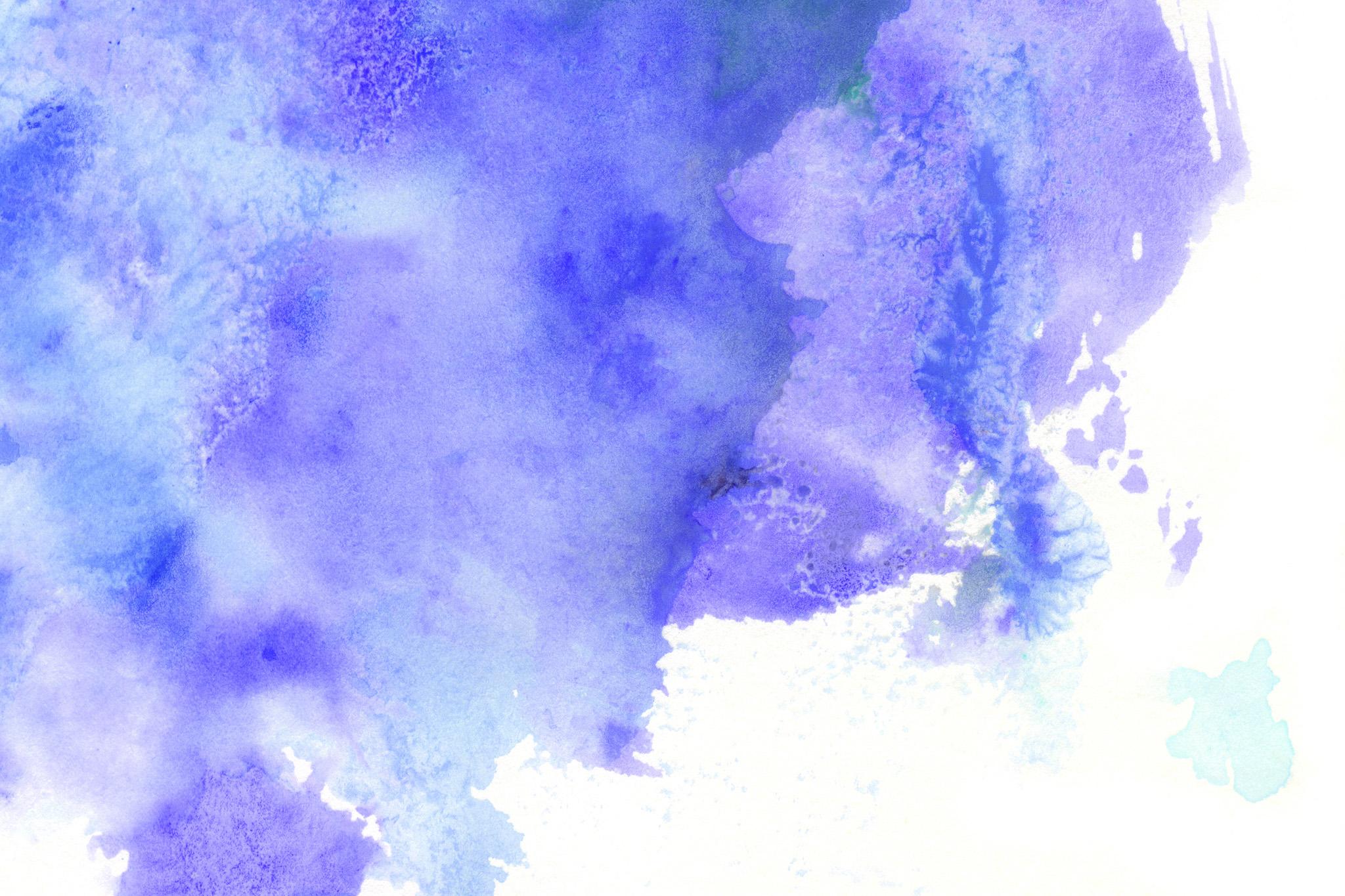 「紫色の水彩のにじみと掠れ」の素材を無料ダウンロード