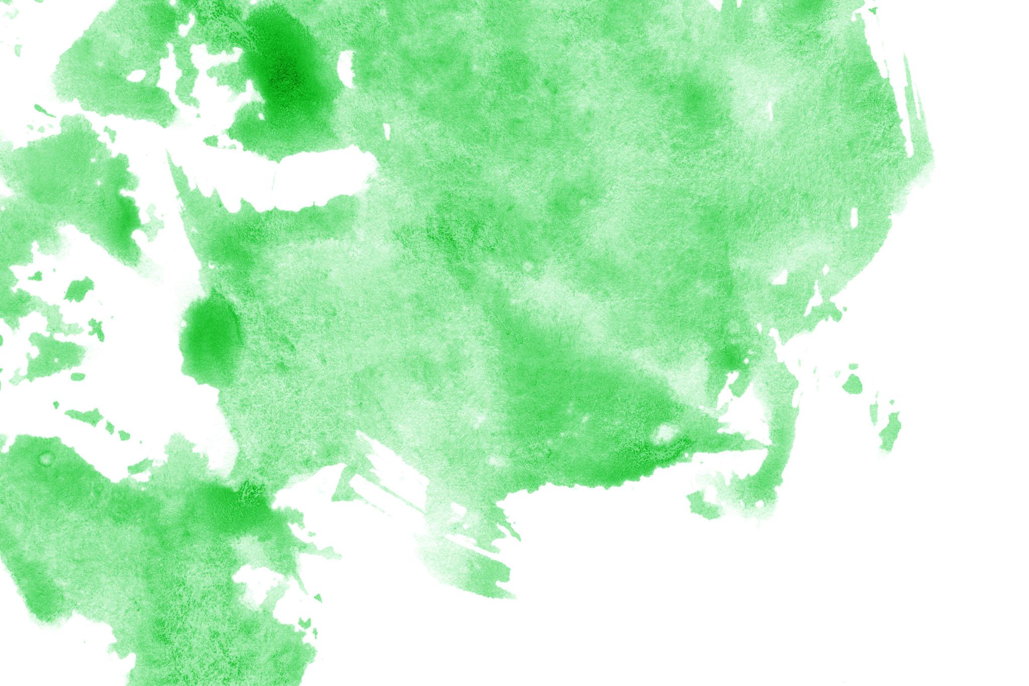 「薄いグリーンが掠れる水彩背景」