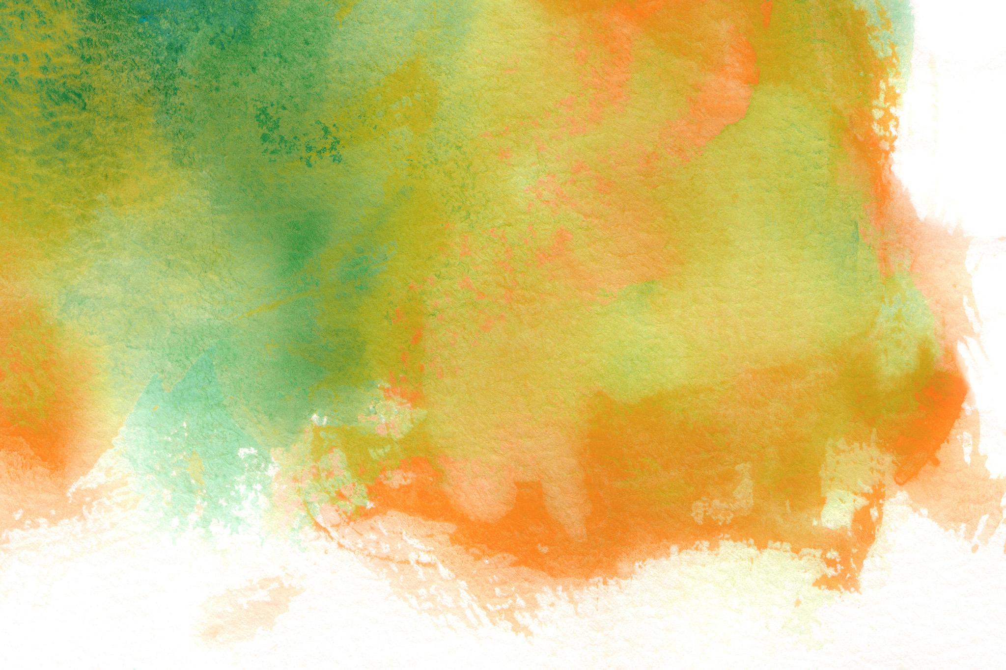「緑と黄が暈ける水彩模様」