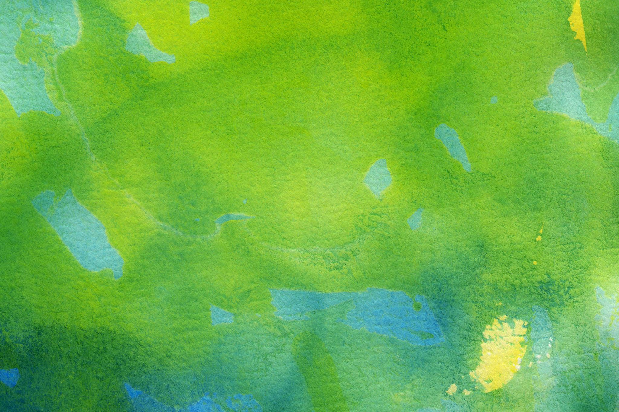 「グリーンとブルーの薄い水彩塗り」