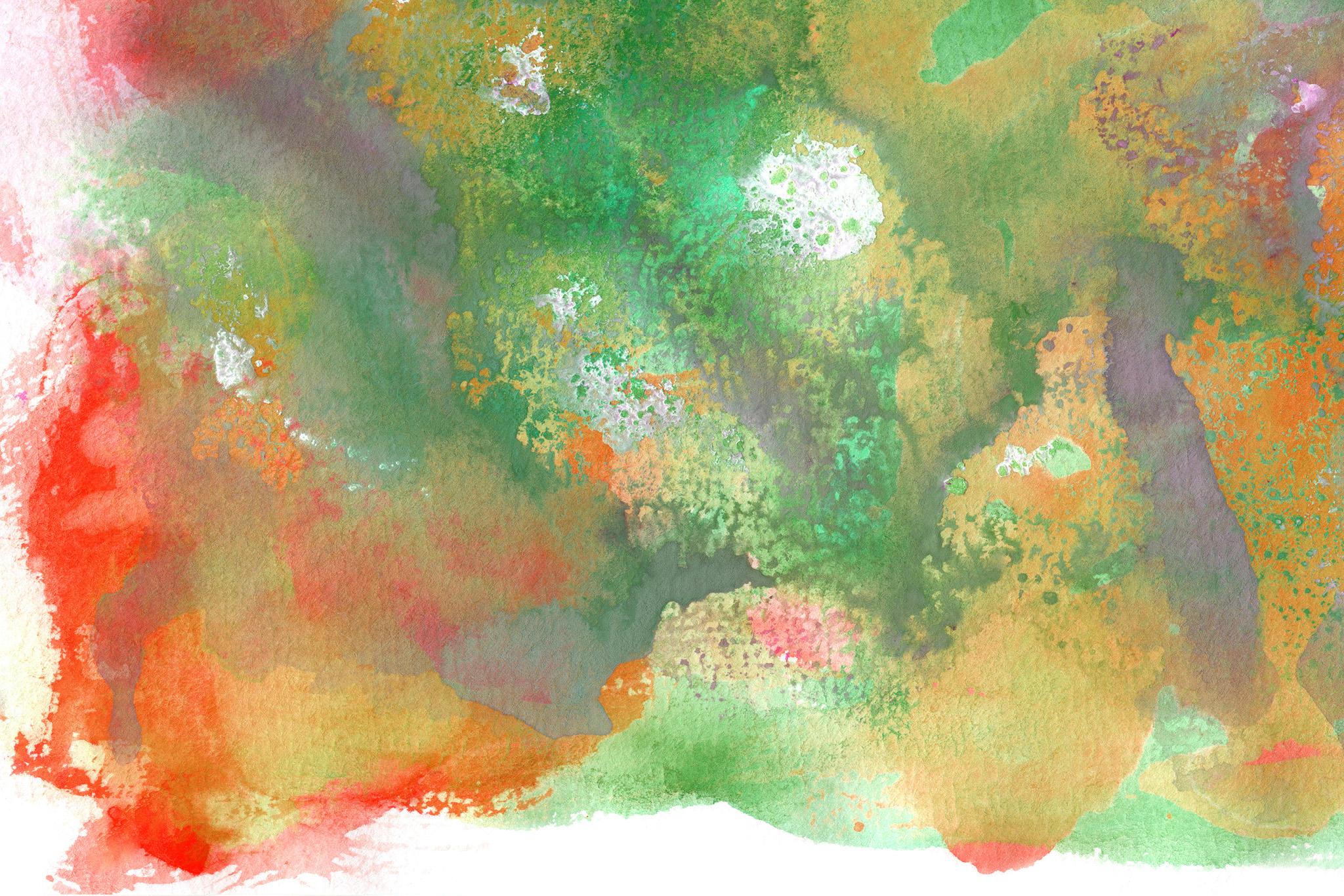 「カラフルな色がにじむ水彩テクスチャ」