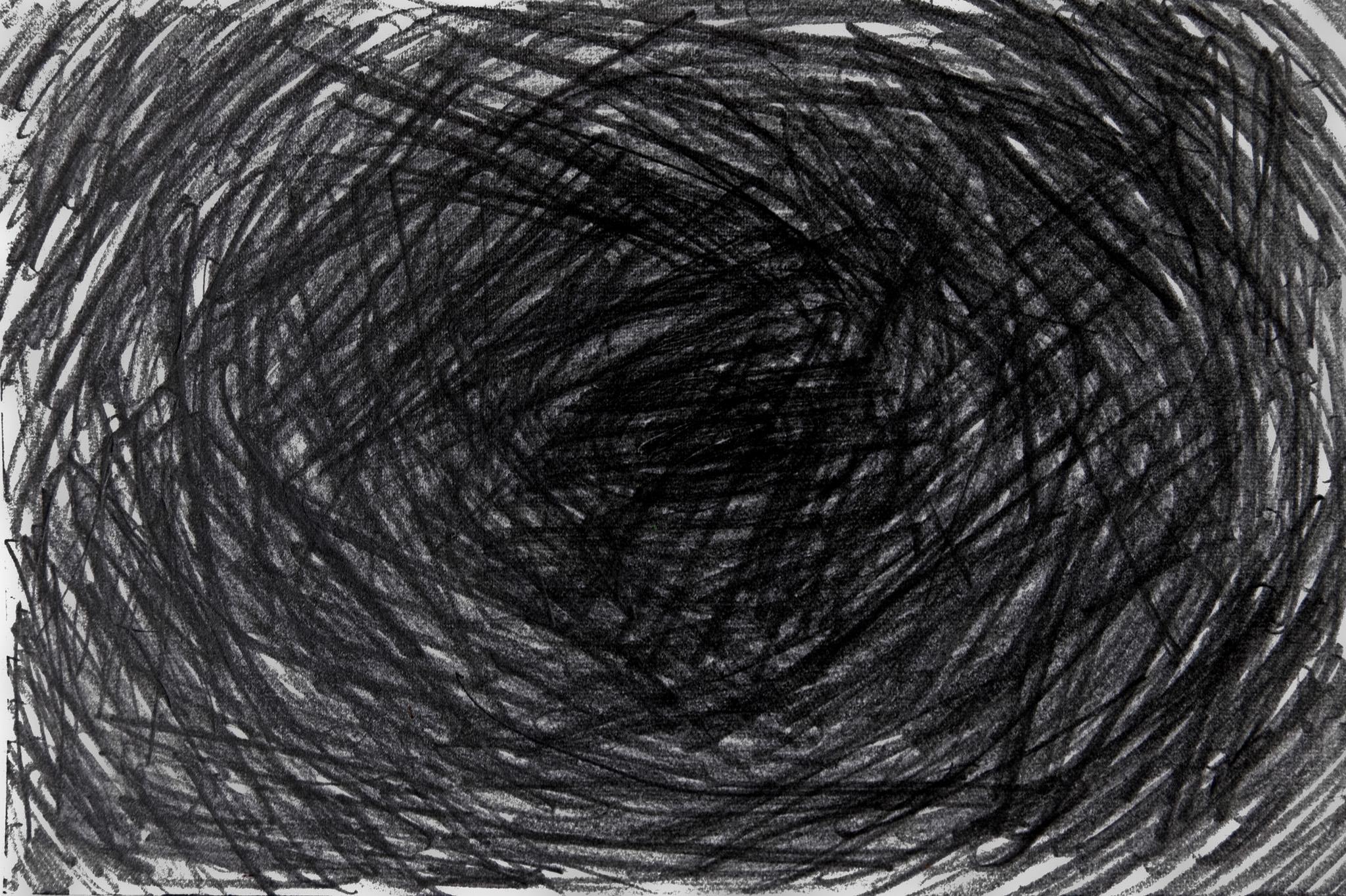 「鉛筆の線で塗りつぶした黒背景」