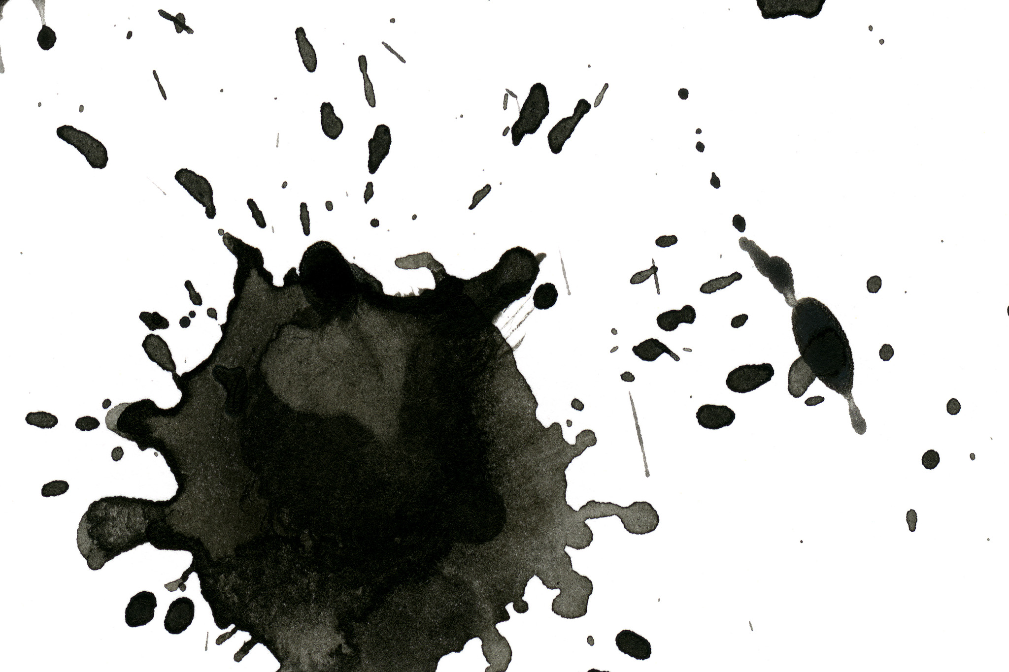 「黒い墨が飛び散ったテクスチャ」