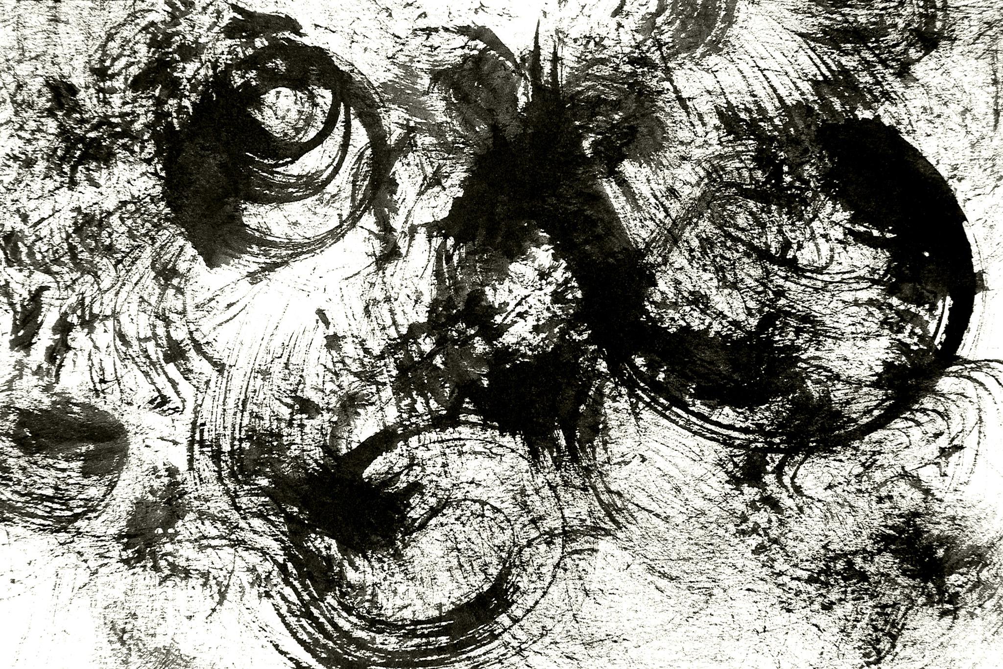 「弧を描くかすれた墨の背景」