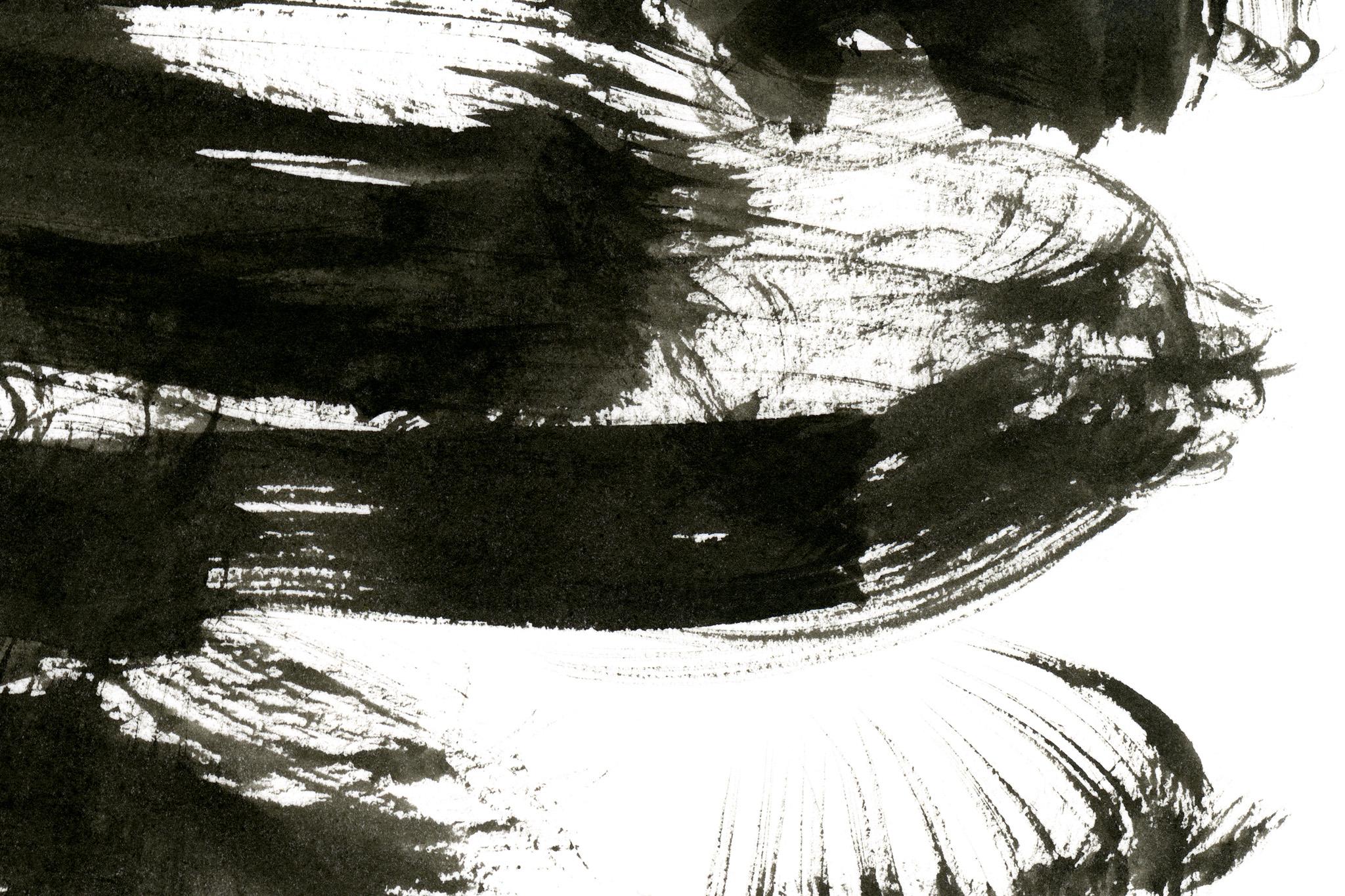 「墨のかすれの和風背景」