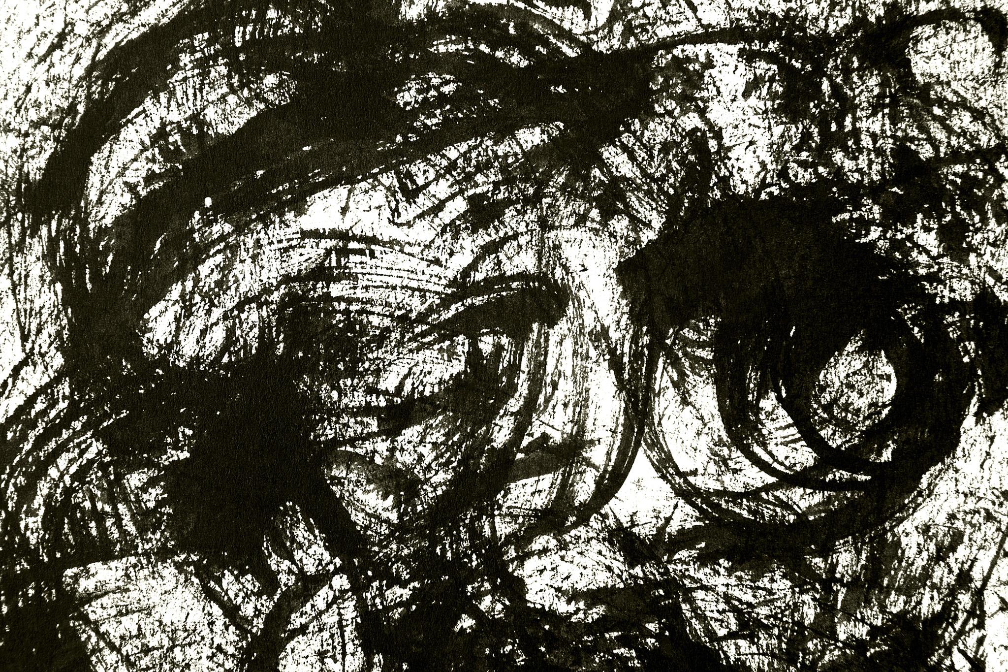 「渦を巻いた墨の掠れの背景」