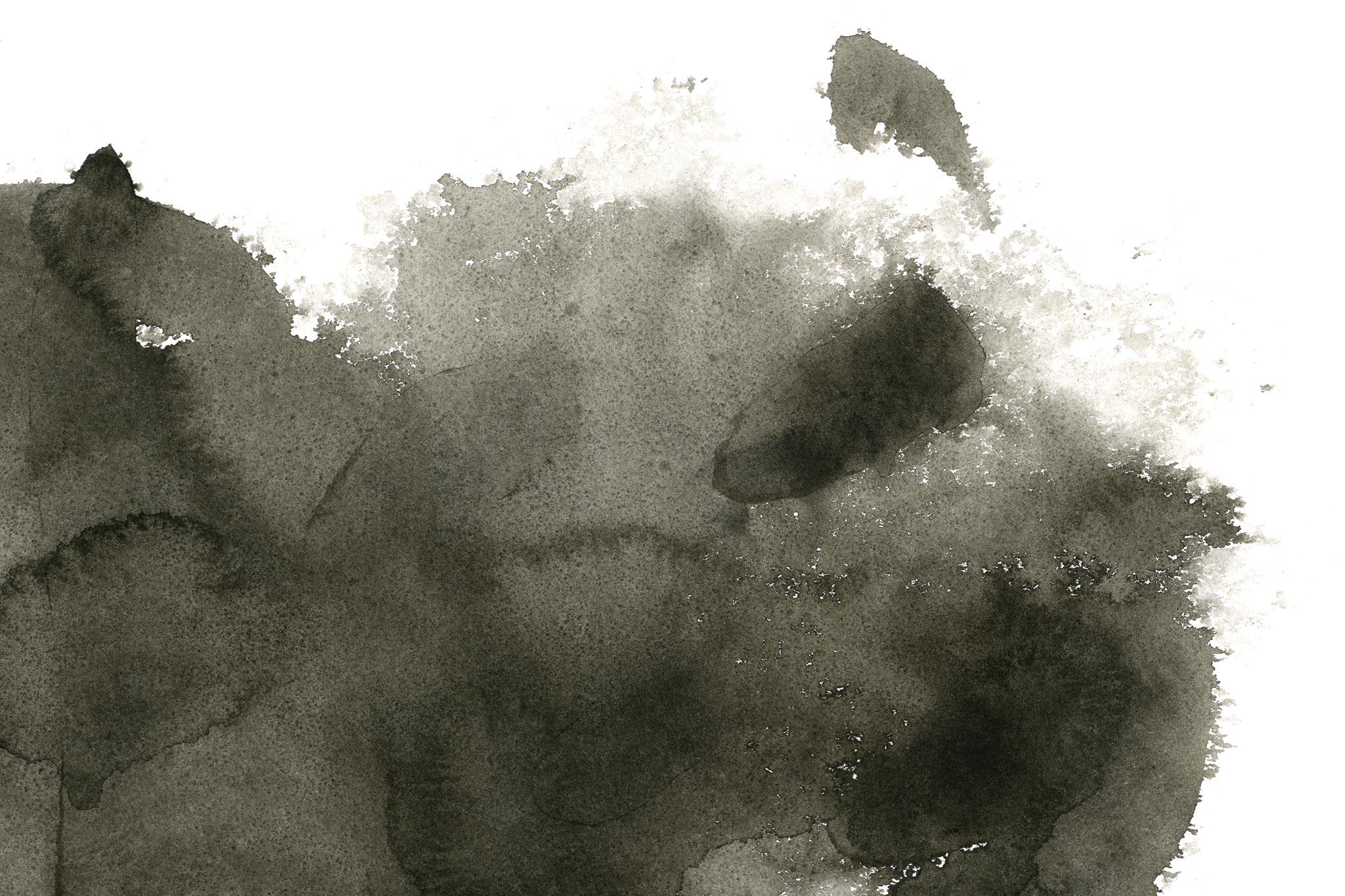 「シミのような濃淡がある墨の背景」